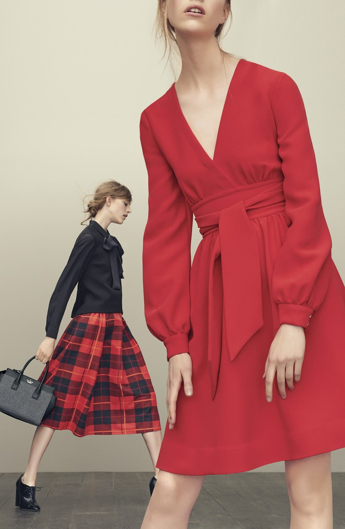 KATE SPADE NEW YORK,                             katespade new yorkwoodland plaid midi skirt,                             Alternate thumbnail 6, color,                             601