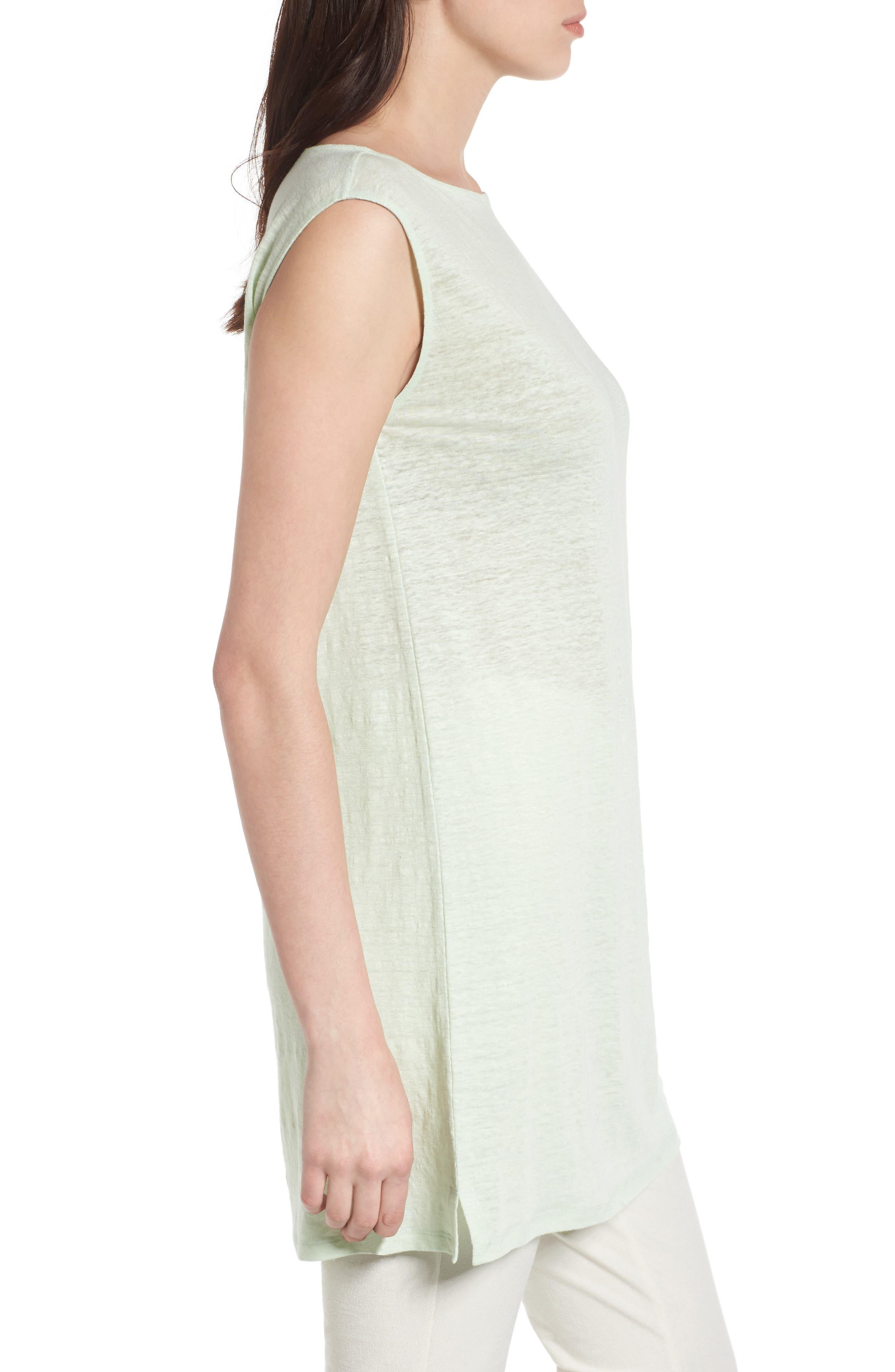 Organic Linen Tunic,                             Alternate thumbnail 3, color,                             365