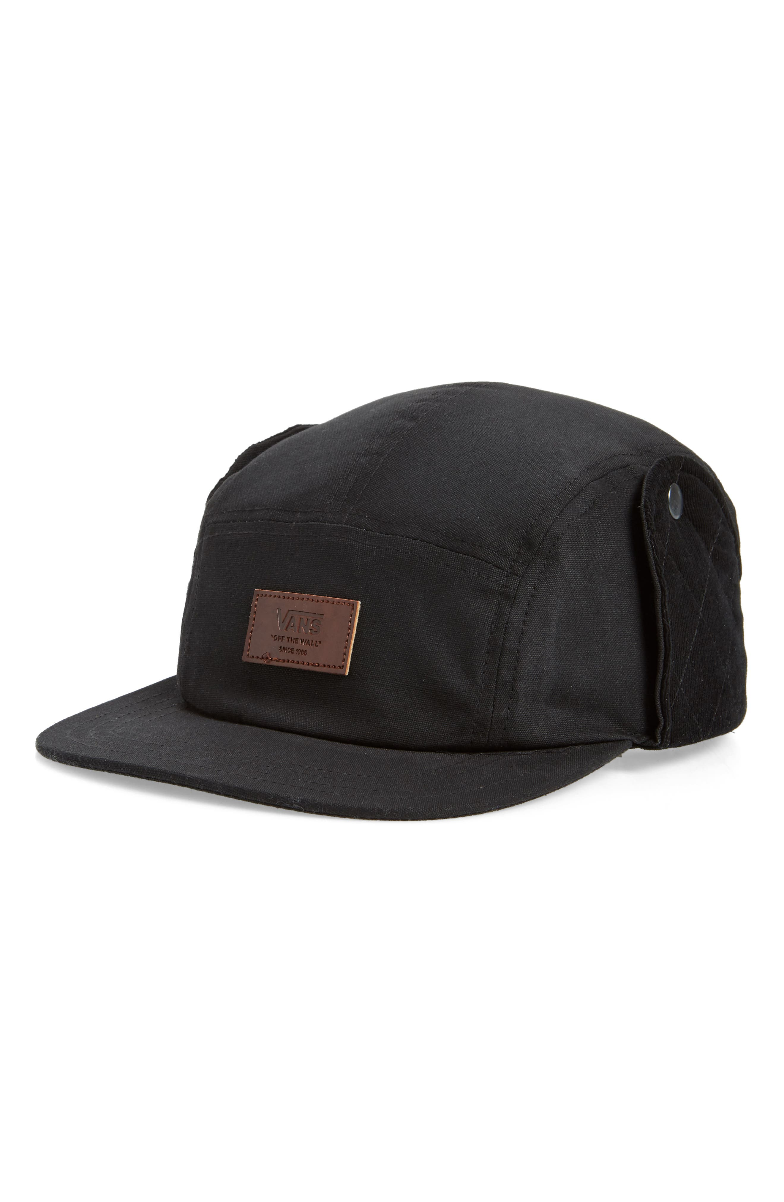 Snap Flap Camper Hat,                             Main thumbnail 1, color,                             BLACK
