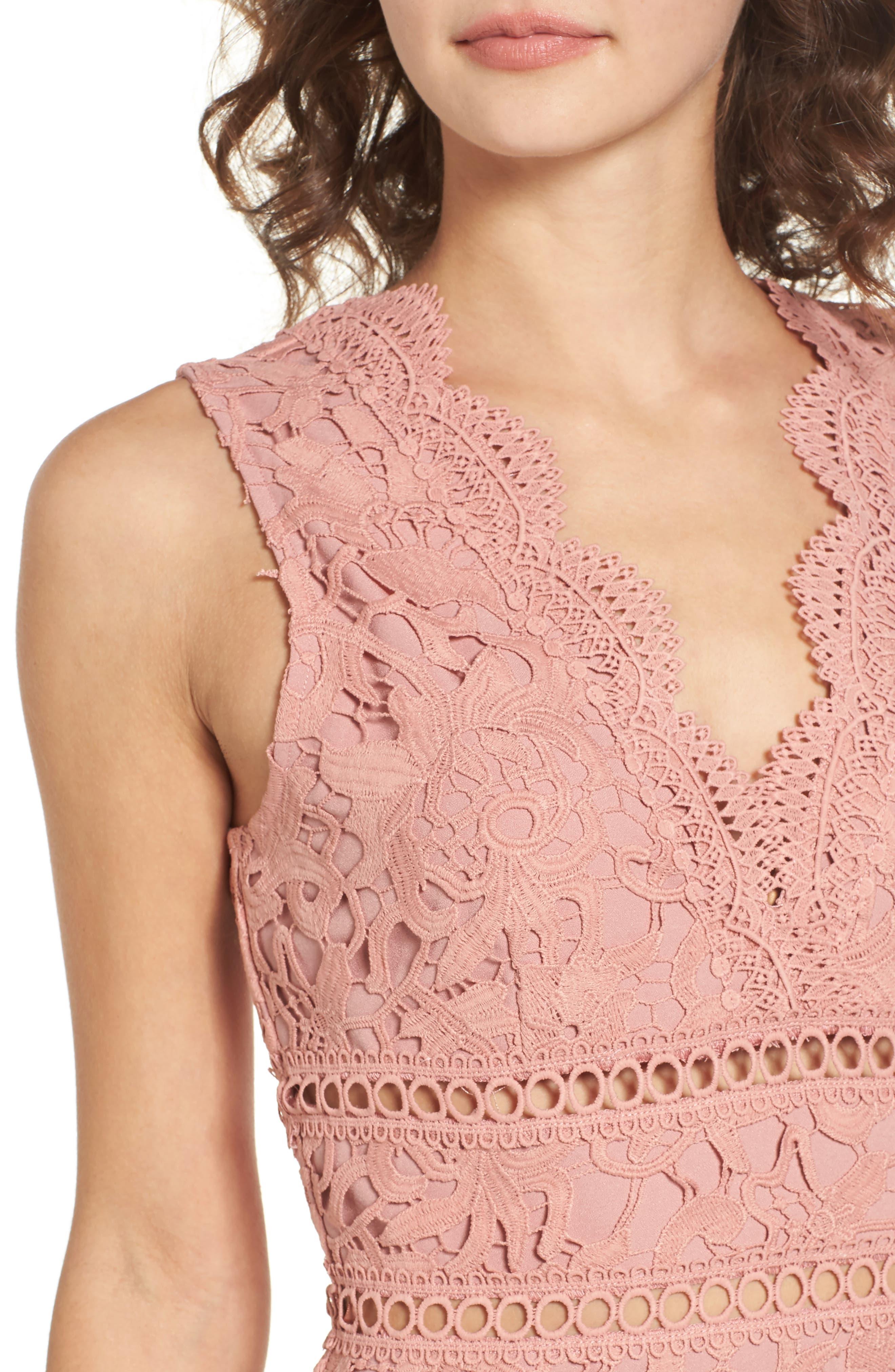 Lace Minidress,                             Alternate thumbnail 4, color,