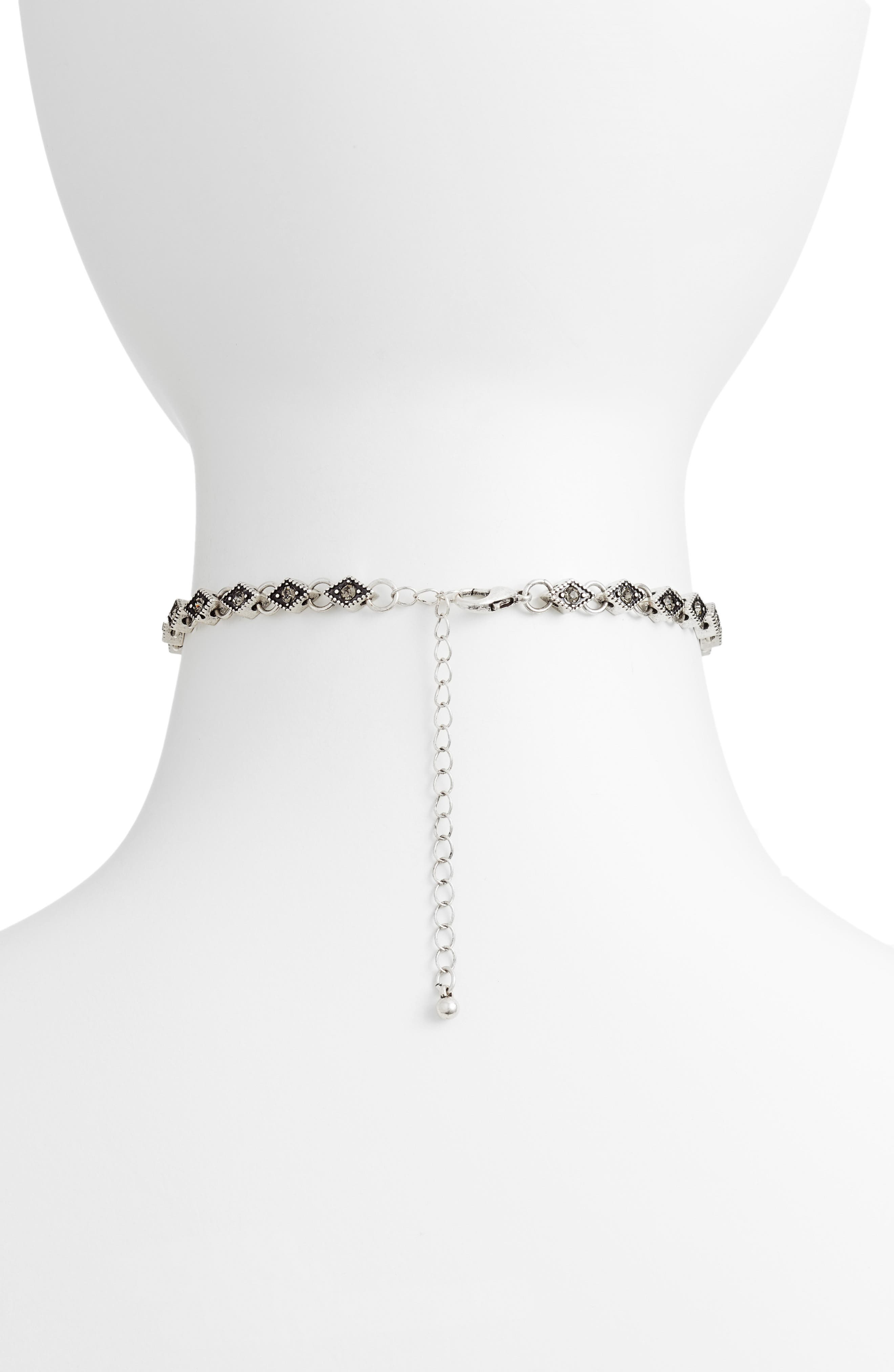 Diamond Choker Necklace,                             Alternate thumbnail 3, color,