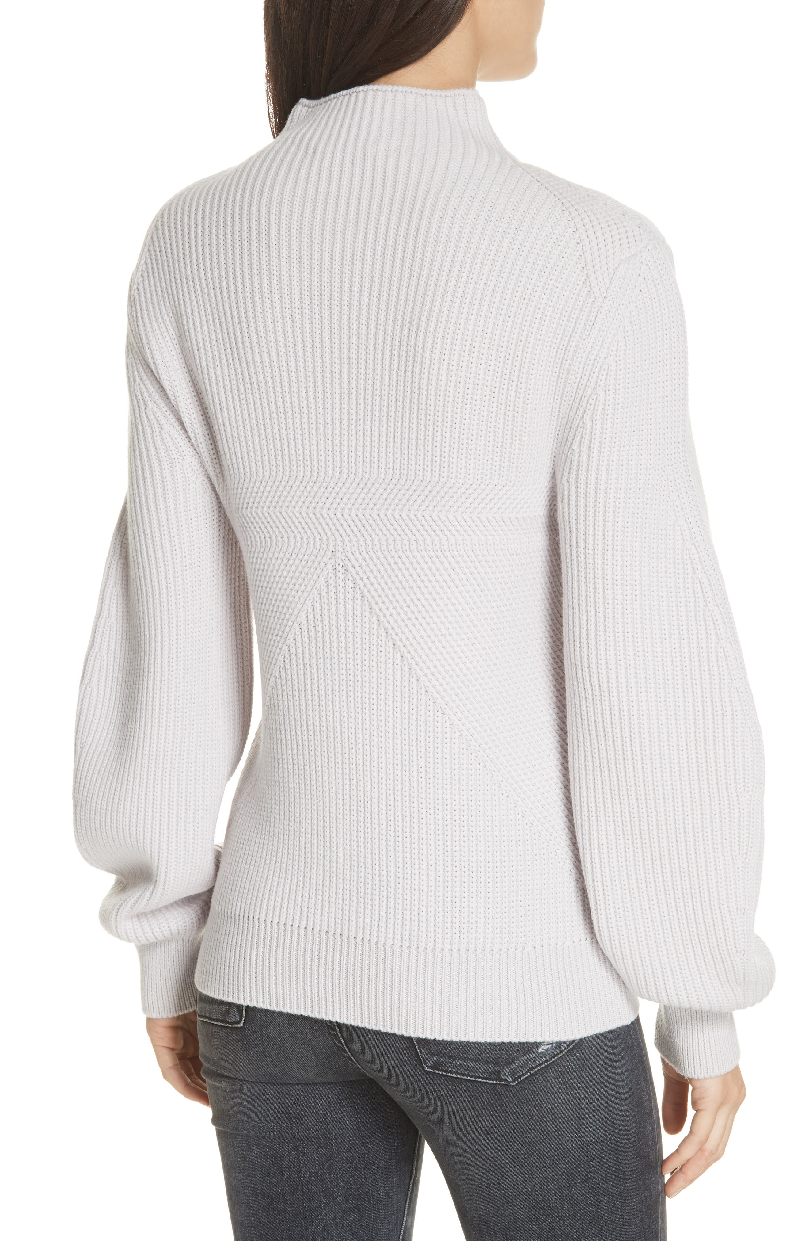 Puff Sleeve Merino Wool Sweater,                             Alternate thumbnail 2, color,                             900