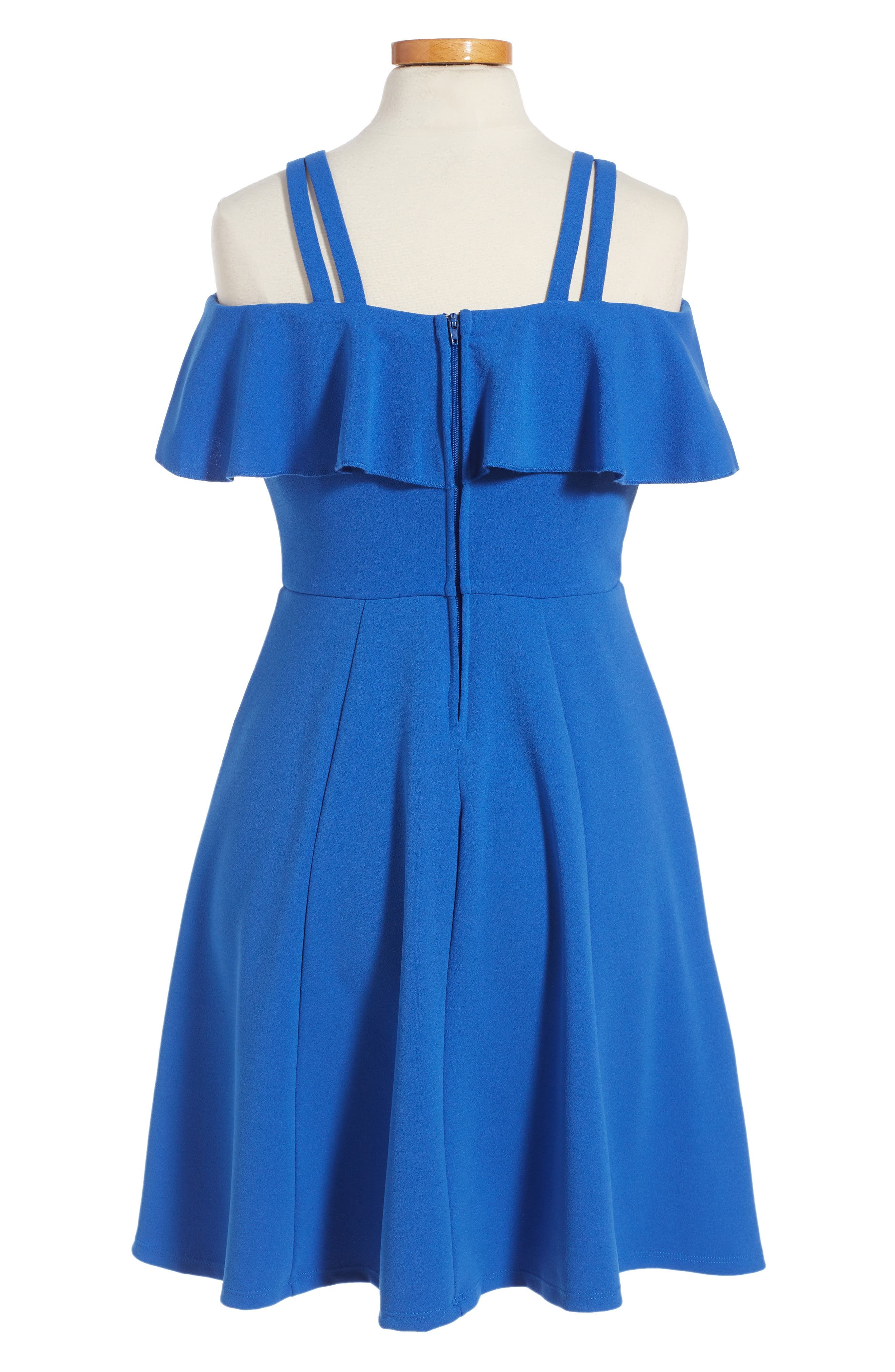 Off the Shoulder Ruffle Dress,                             Main thumbnail 1, color,                             420