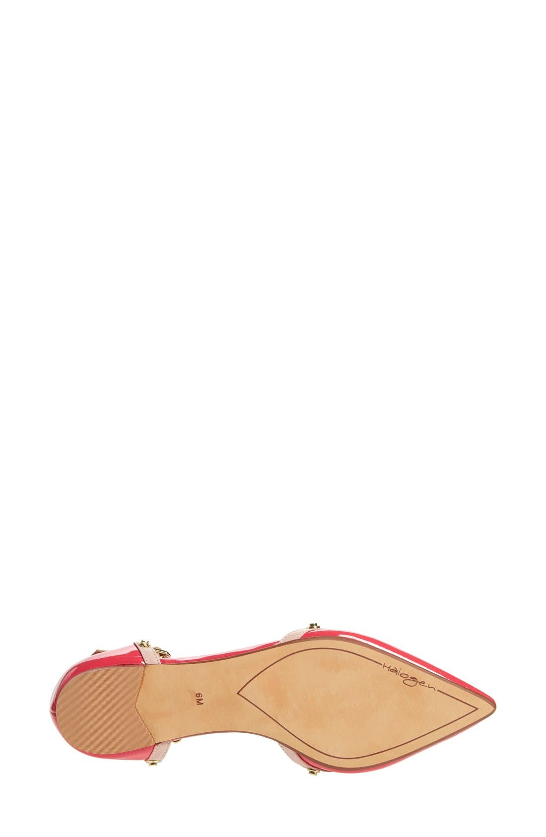 'Olson' Pointy Toe Studded T-Strap Flat,                             Alternate thumbnail 70, color,