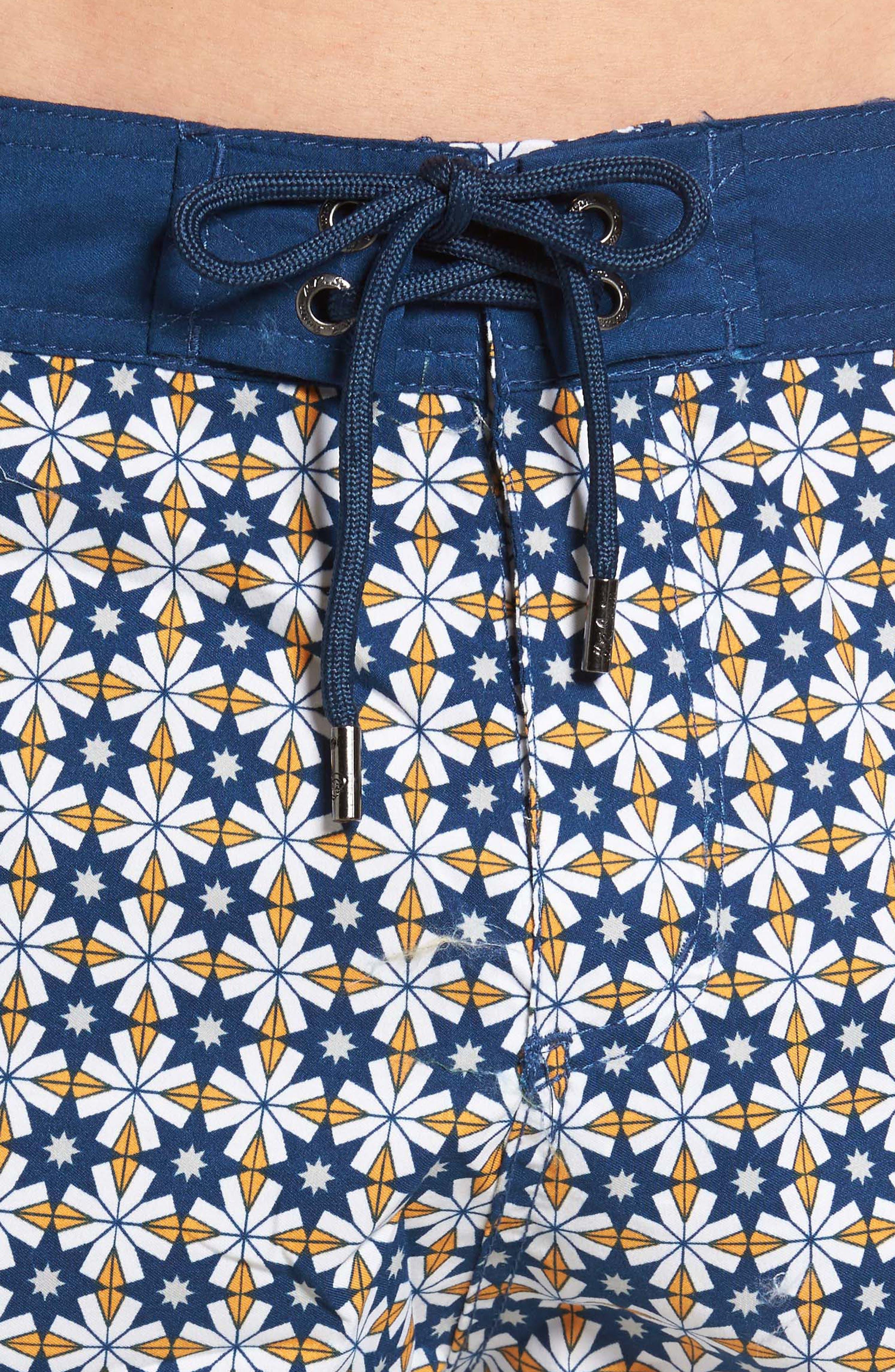 Star Tile Print Board Shorts,                             Alternate thumbnail 4, color,                             440