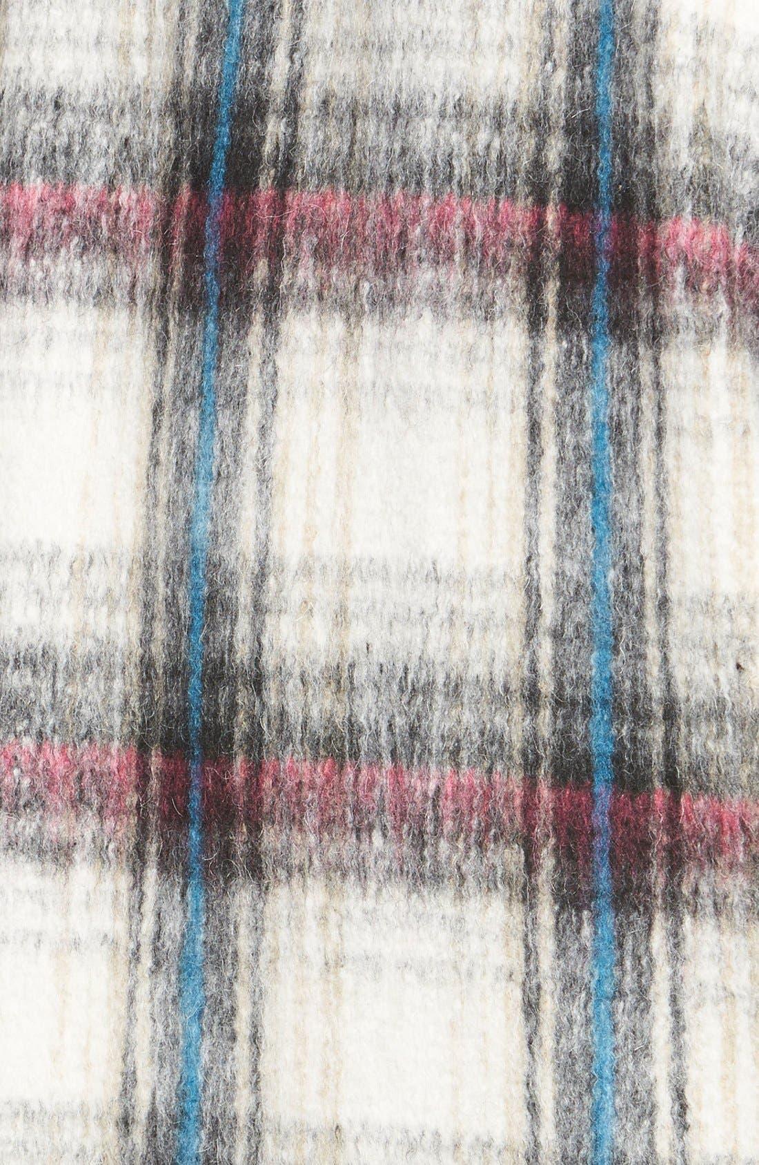 Drop Shoulder Plaid Wool Blend Coat,                             Alternate thumbnail 8, color,                             250