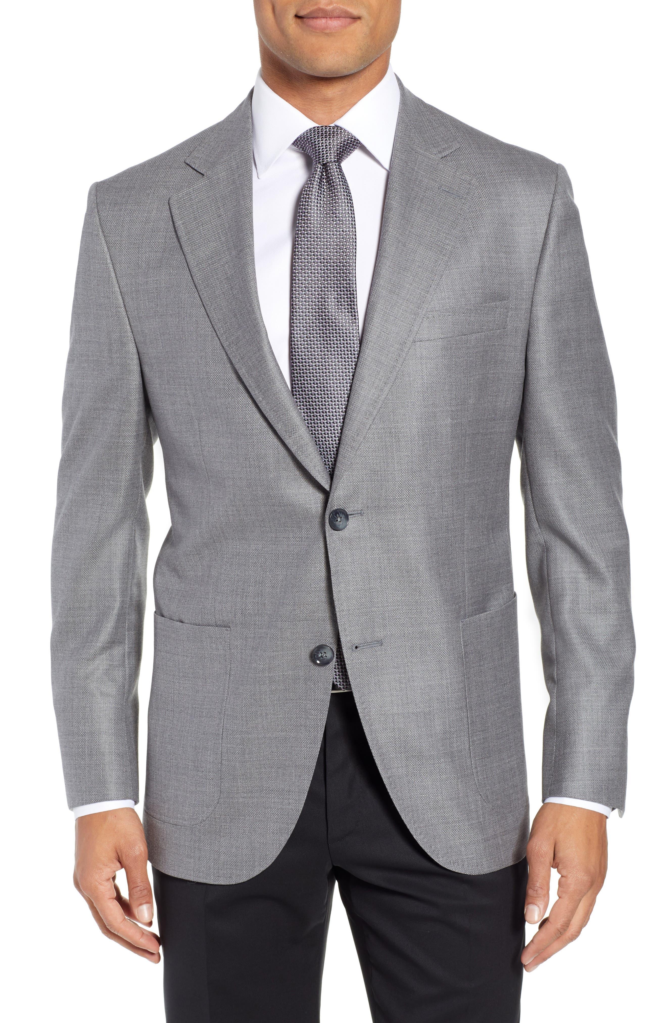 PETER MILLAR Hyperlight Classic Fit Wool Sport Coat, Main, color, 020