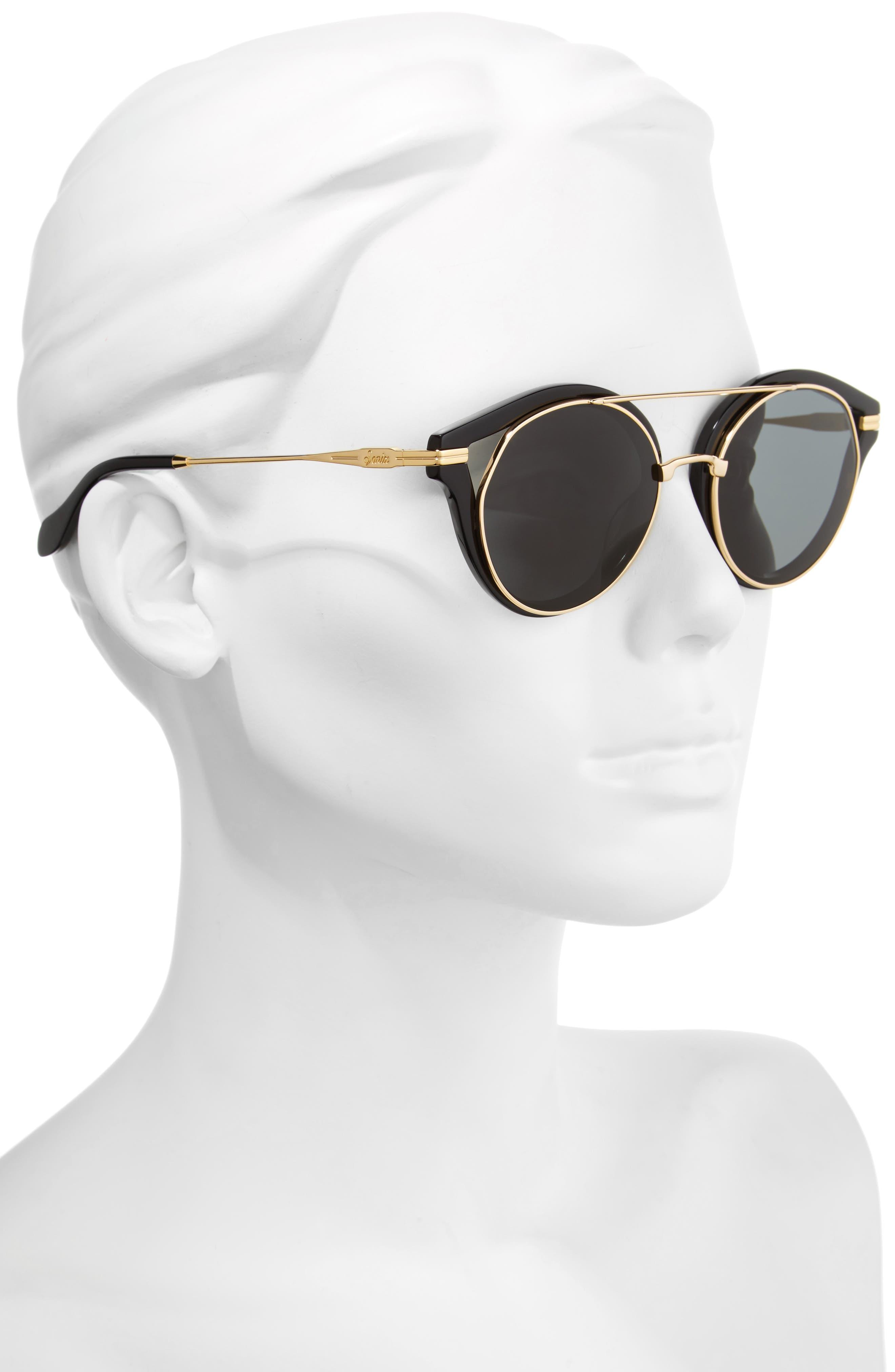 SONIX,                             Preston 51mm Gradient Round Sunglasses,                             Alternate thumbnail 2, color,                             001