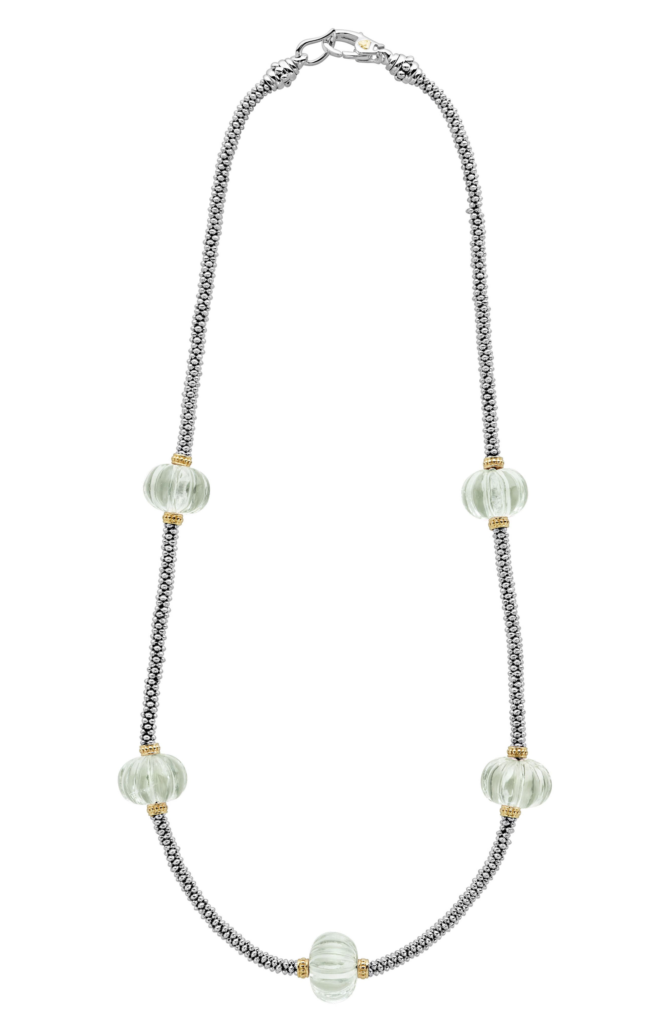 Caviar Forever Gemstone Melon Bead Rope Necklace,                             Main thumbnail 1, color,                             300