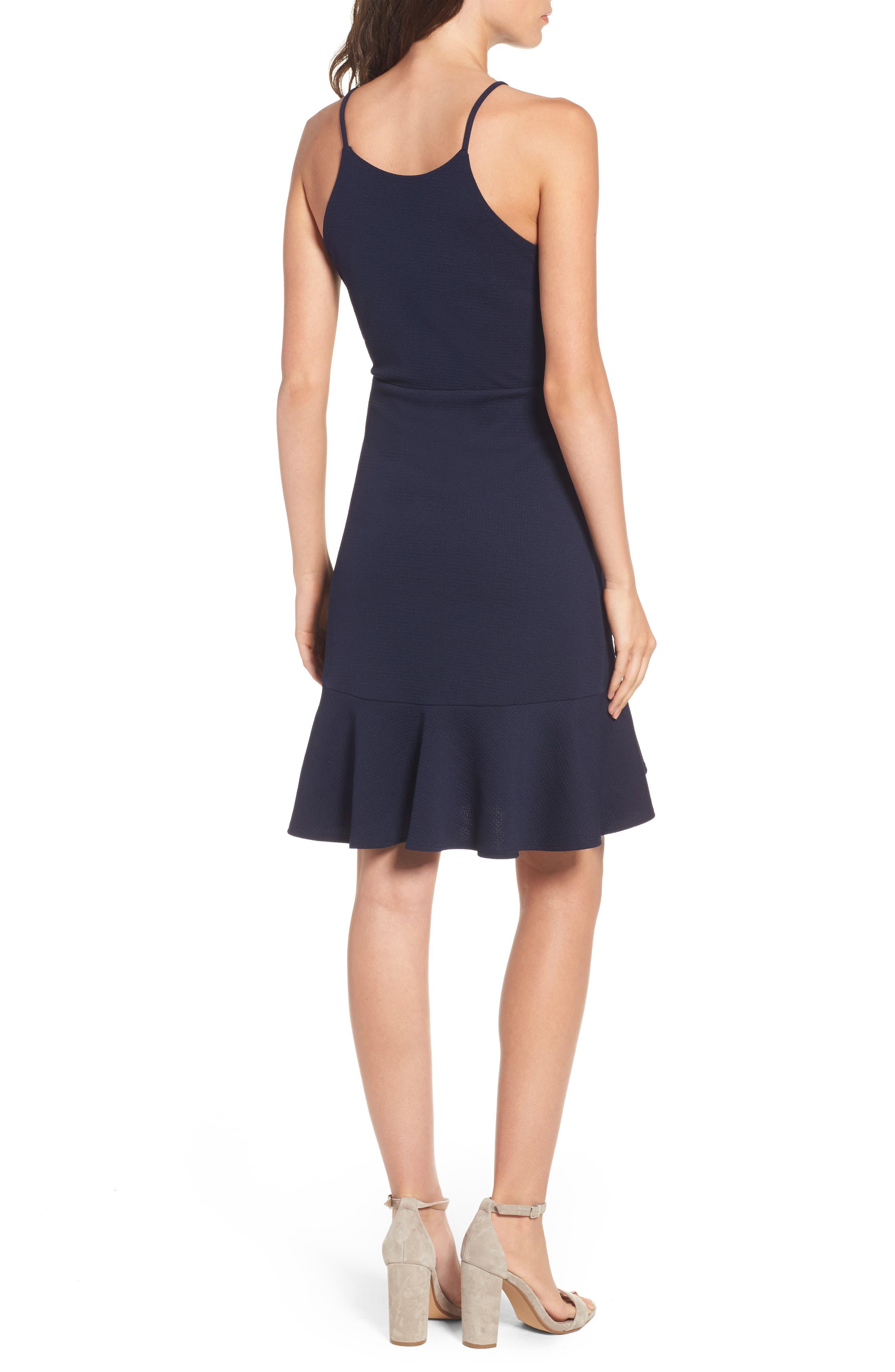 Ruffle Hem Knit Dress,                             Alternate thumbnail 2, color,                             415