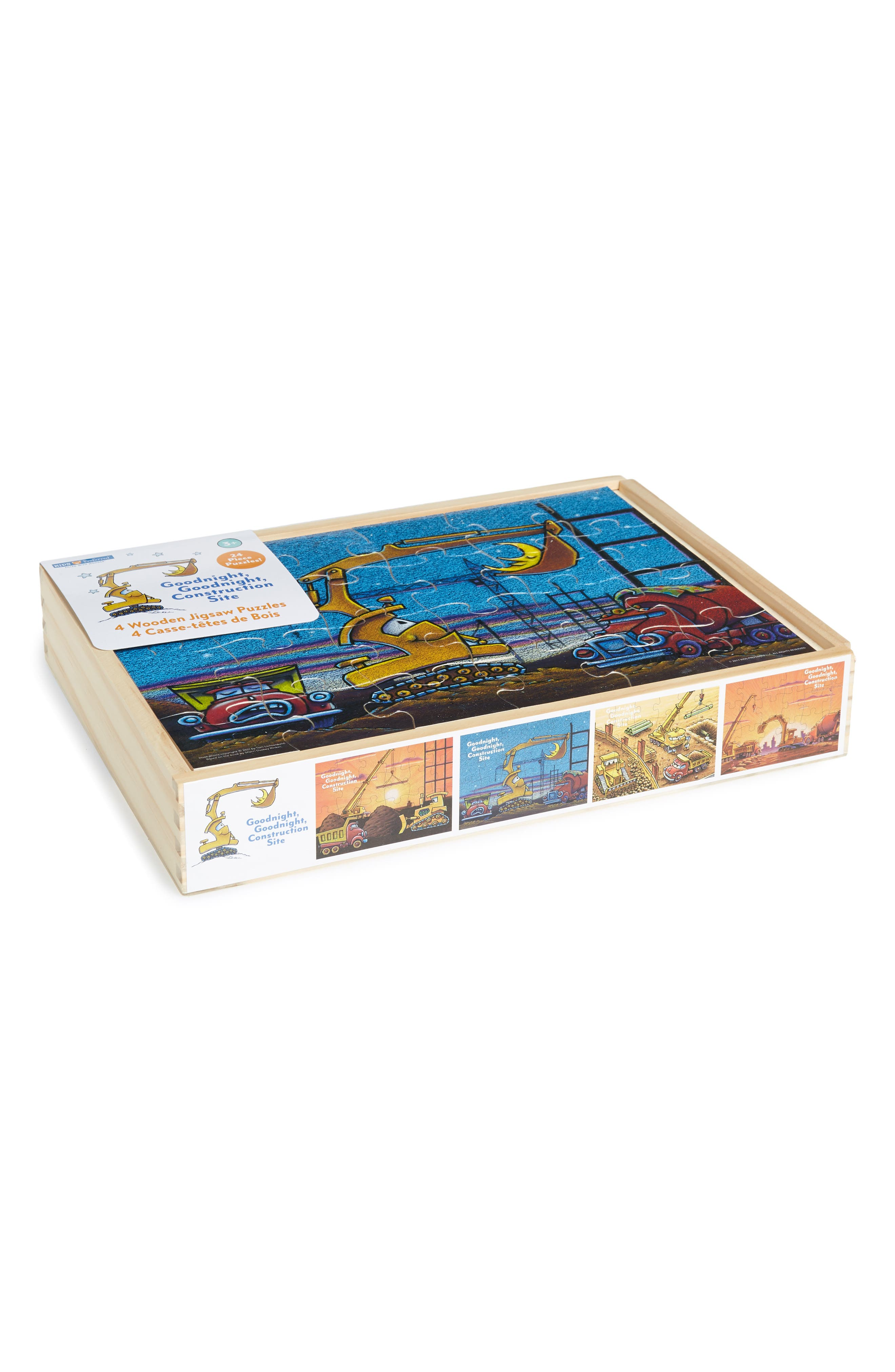 Toddler Kids Preferred Set Of 4 Goodnight Goodnight Construction Site 24Piece Wooden Puzzles