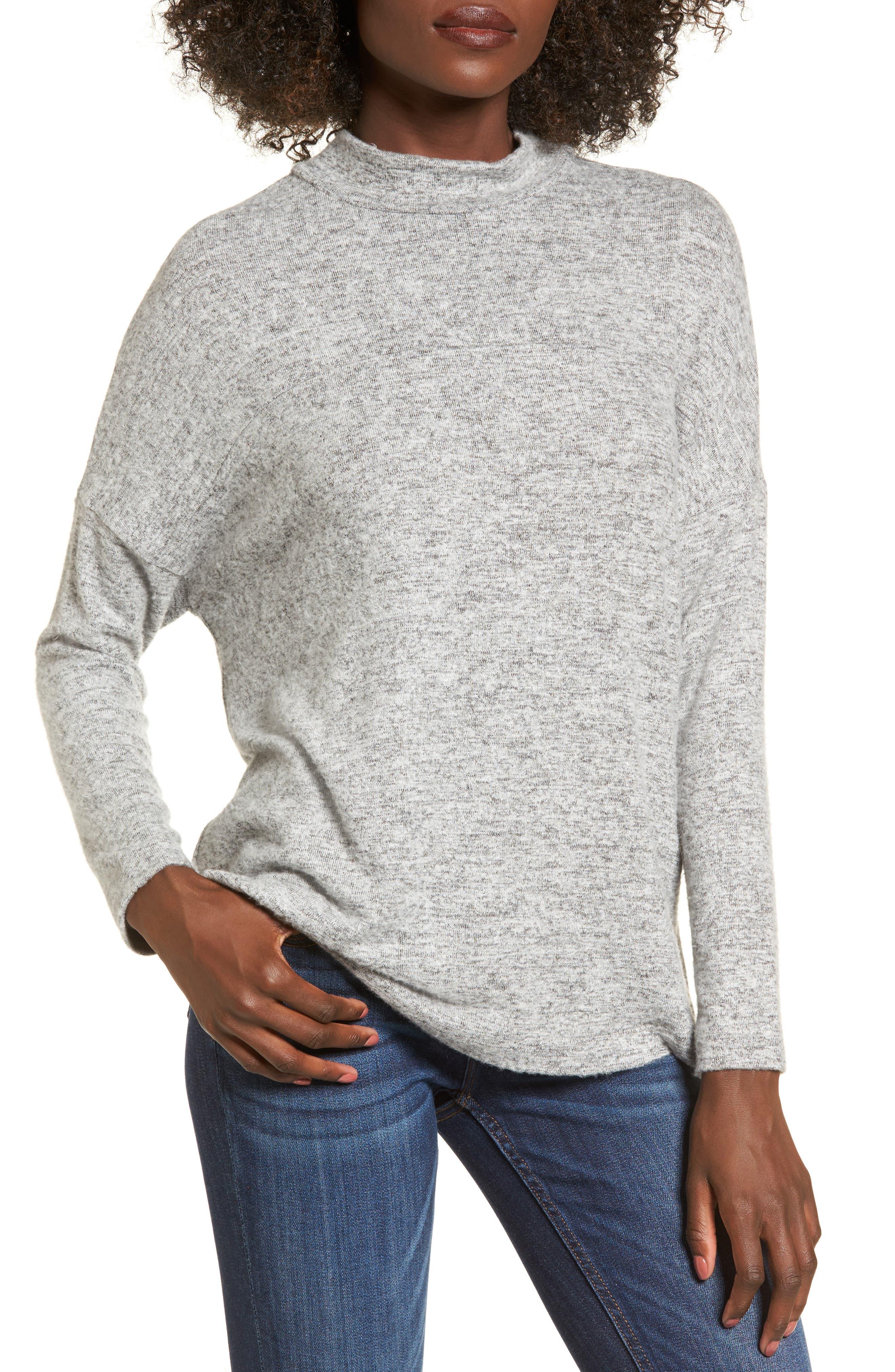 Mock Neck Sweater,                             Main thumbnail 1, color,                             020
