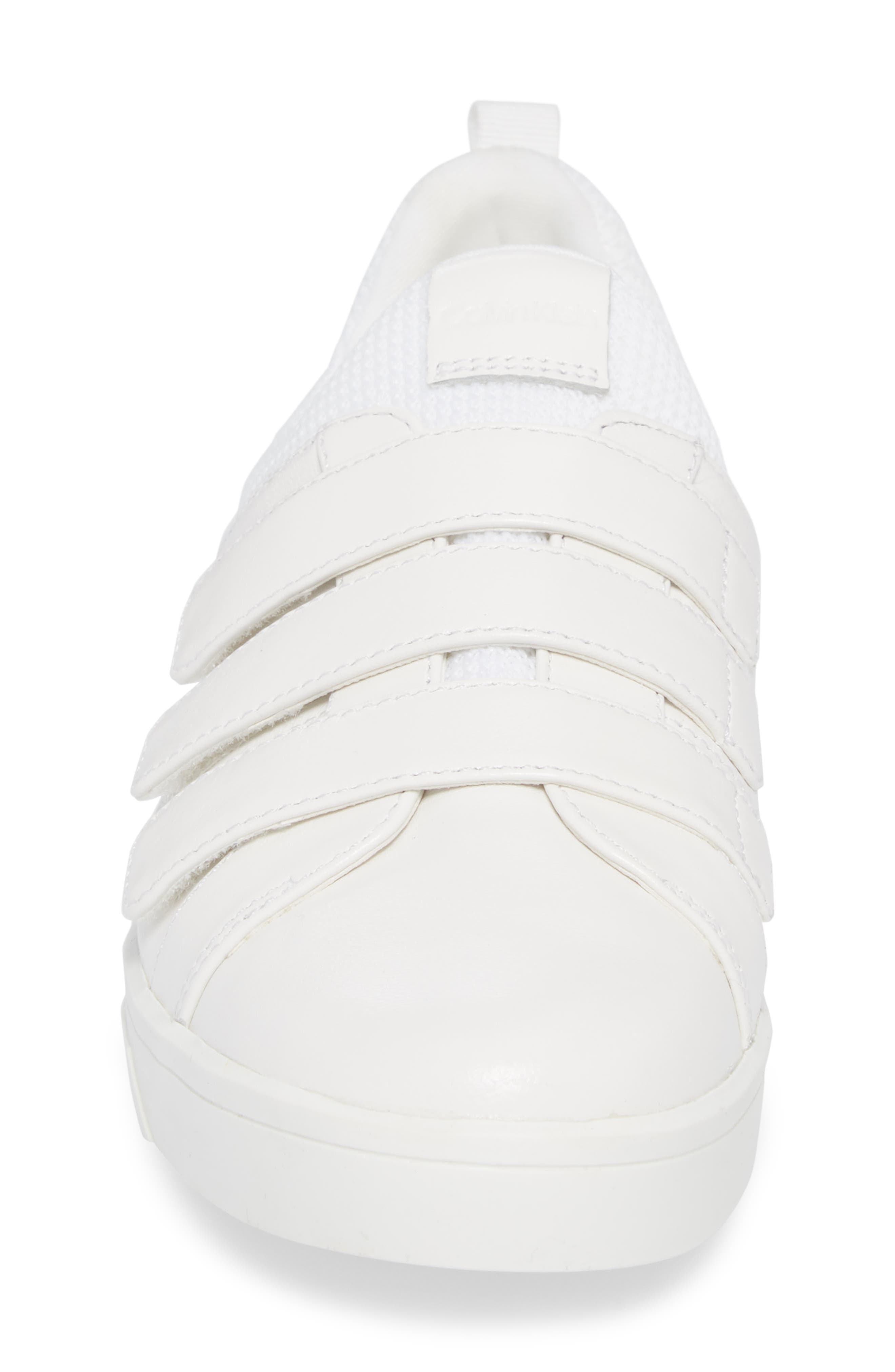 Irah Sneaker,                             Alternate thumbnail 4, color,                             WHITE LEATHER