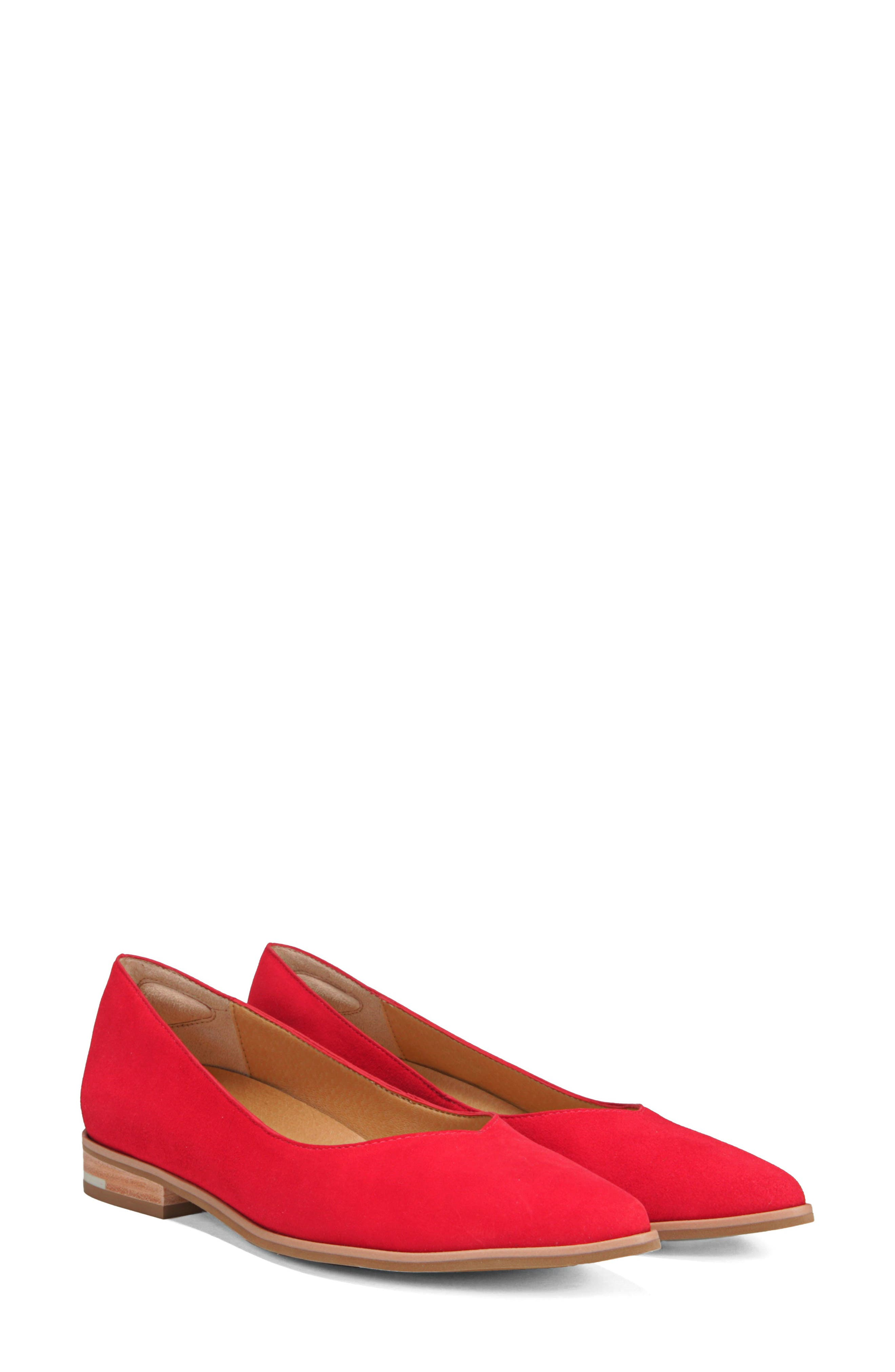 Dr. Scholls Flair Flat,                             Alternate thumbnail 8, color,                             RED LEATHER