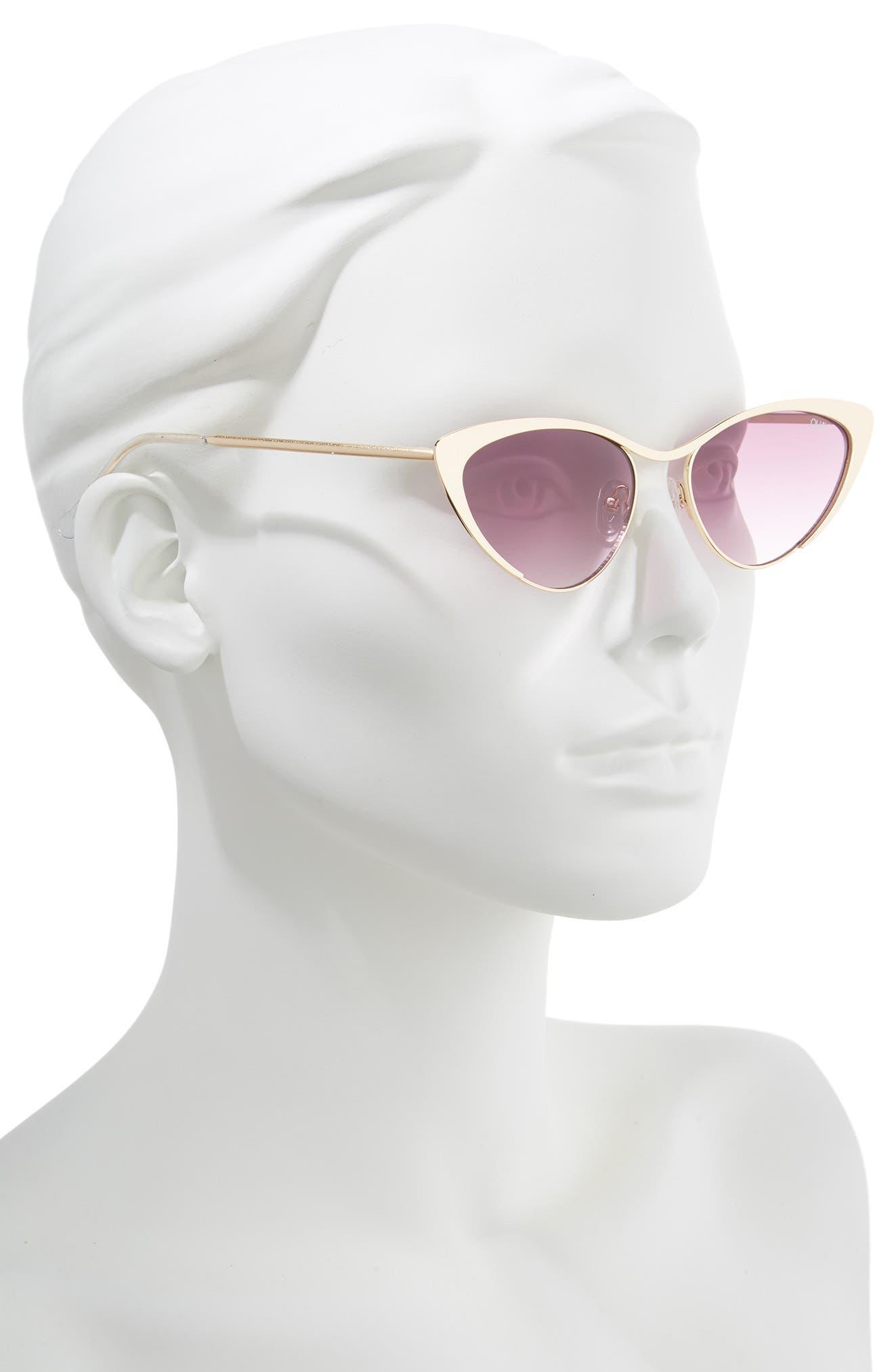 Boss 53mm Cat Eye Sunglasses,                             Alternate thumbnail 2, color,                             GOLD/ PURPLE