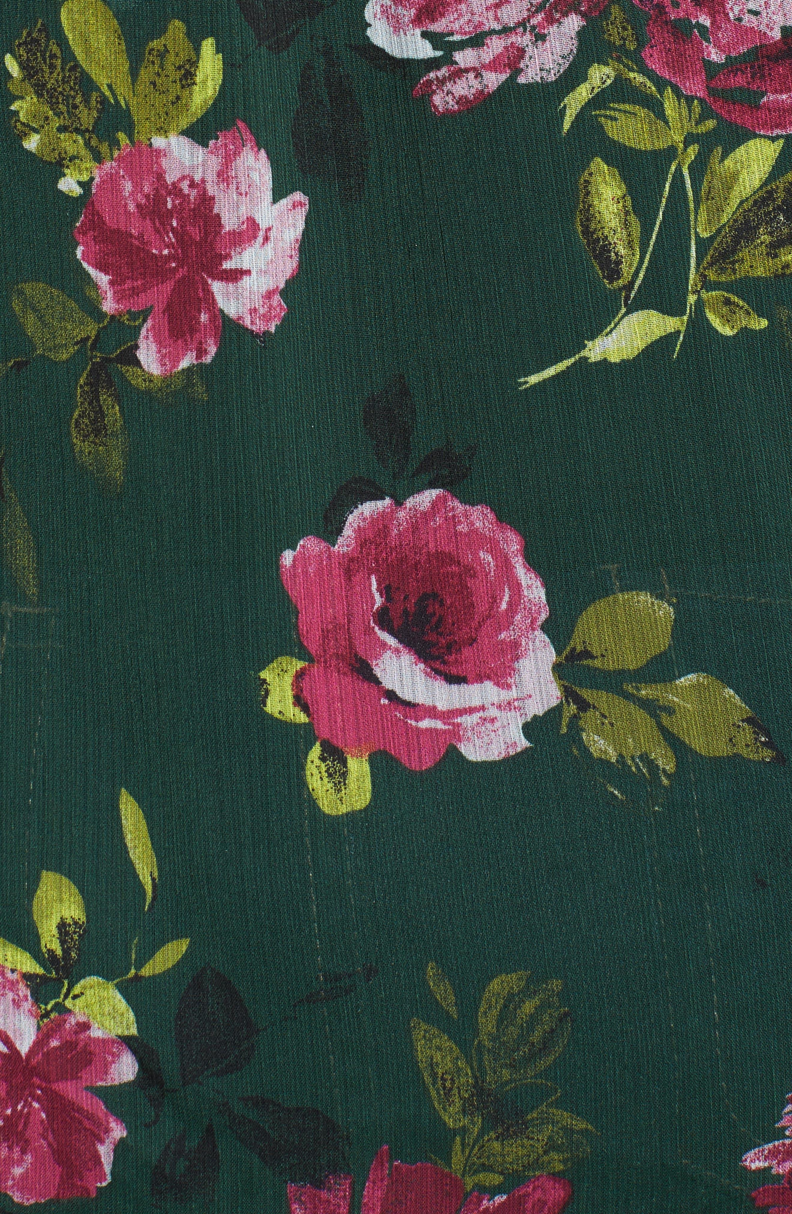 Silvy Floral Print Blouse,                             Alternate thumbnail 5, color,                             323