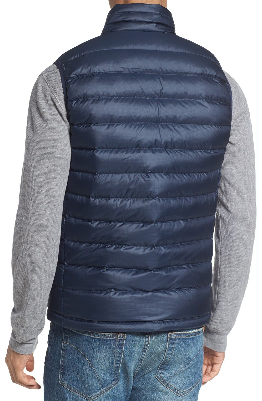 Windproof & Water Resistant 800 Fill Power Down Quilted Vest,                             Alternate thumbnail 18, color,