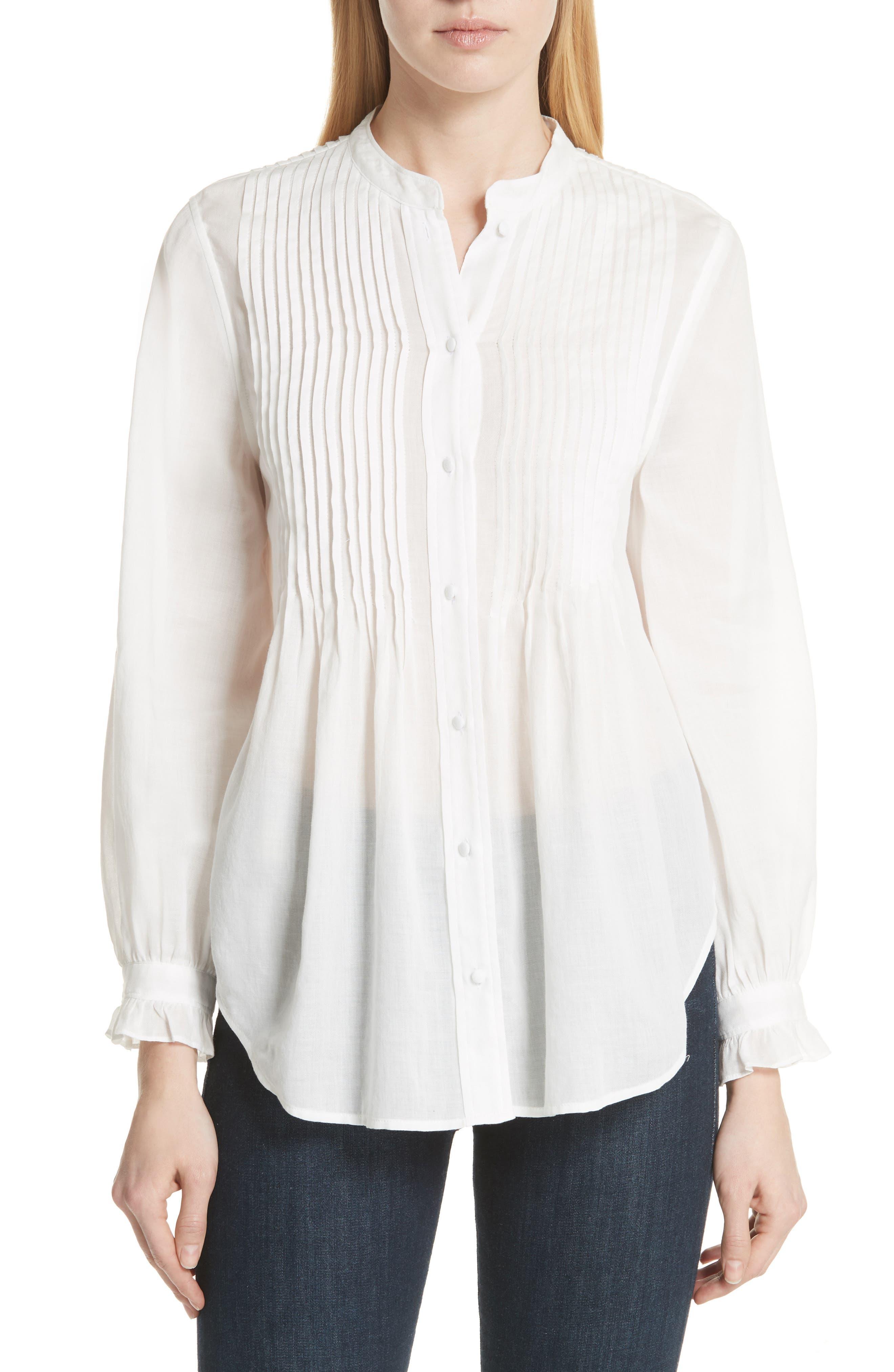 Vonzel Pintuck Cotton Top,                         Main,                         color, 120