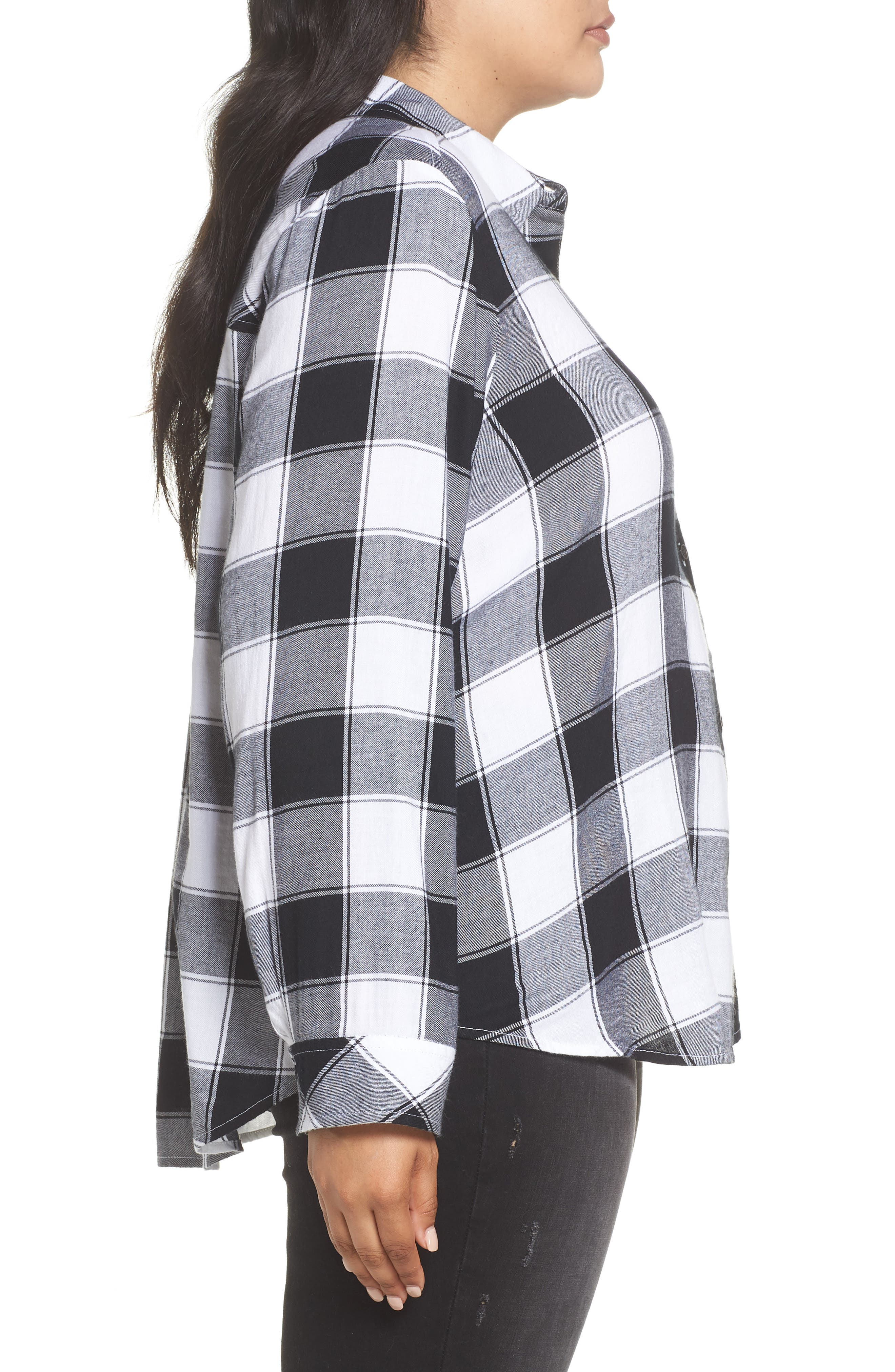 Plaid Shirt,                             Alternate thumbnail 3, color,                             BLACK DALEY PLAID