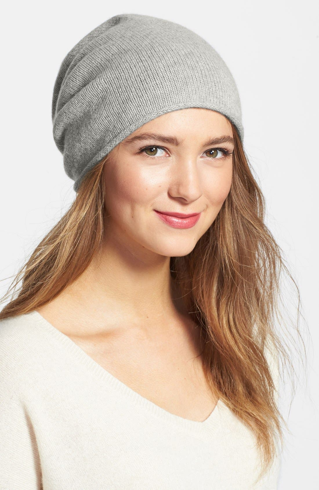Slouchy Cashmere Beanie,                             Main thumbnail 5, color,