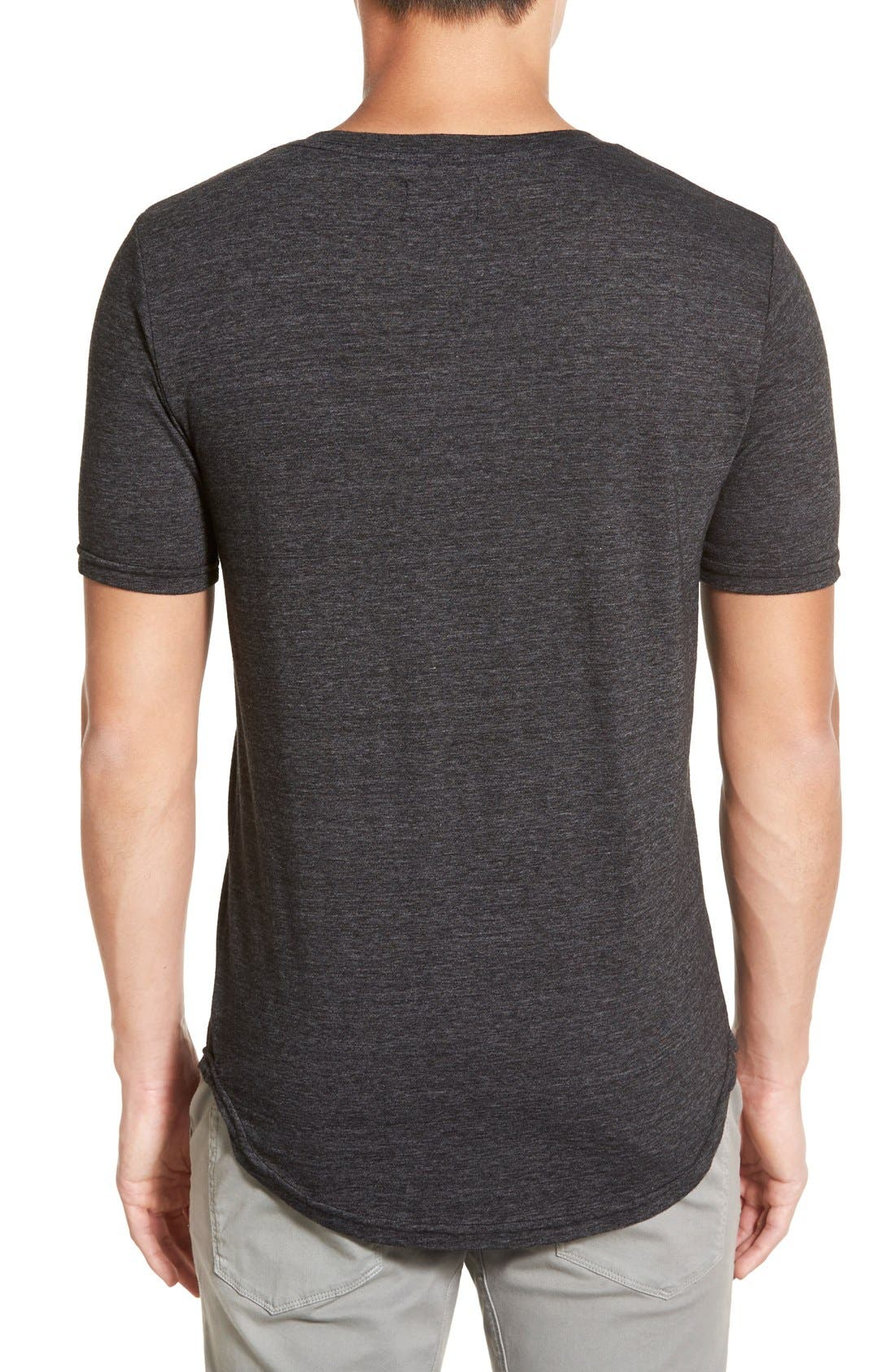 Scallop Triblend V-Neck T-Shirt,                             Alternate thumbnail 85, color,