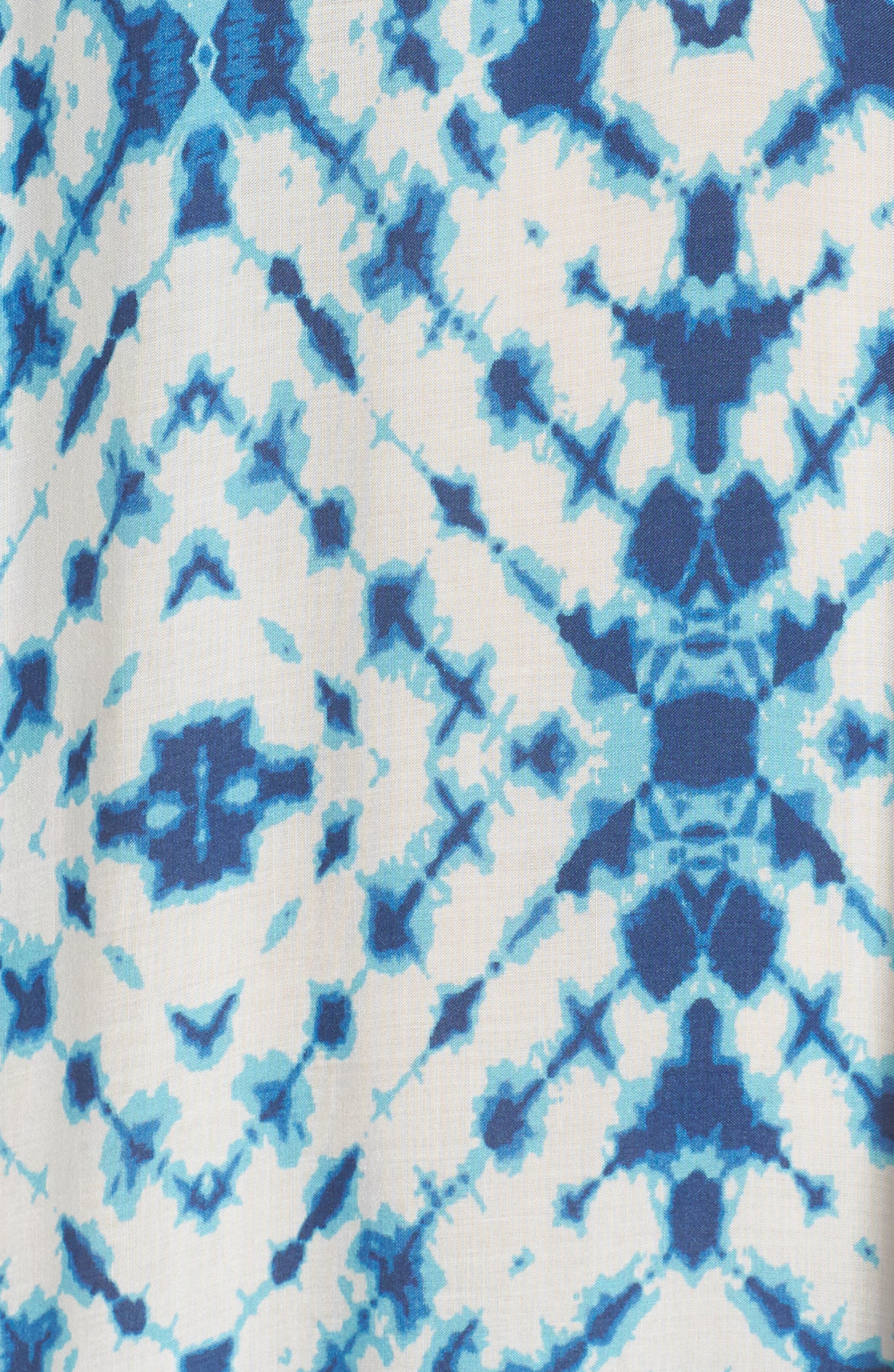 Tie Dye Cover-Up Caftan,                             Alternate thumbnail 5, color,                             400
