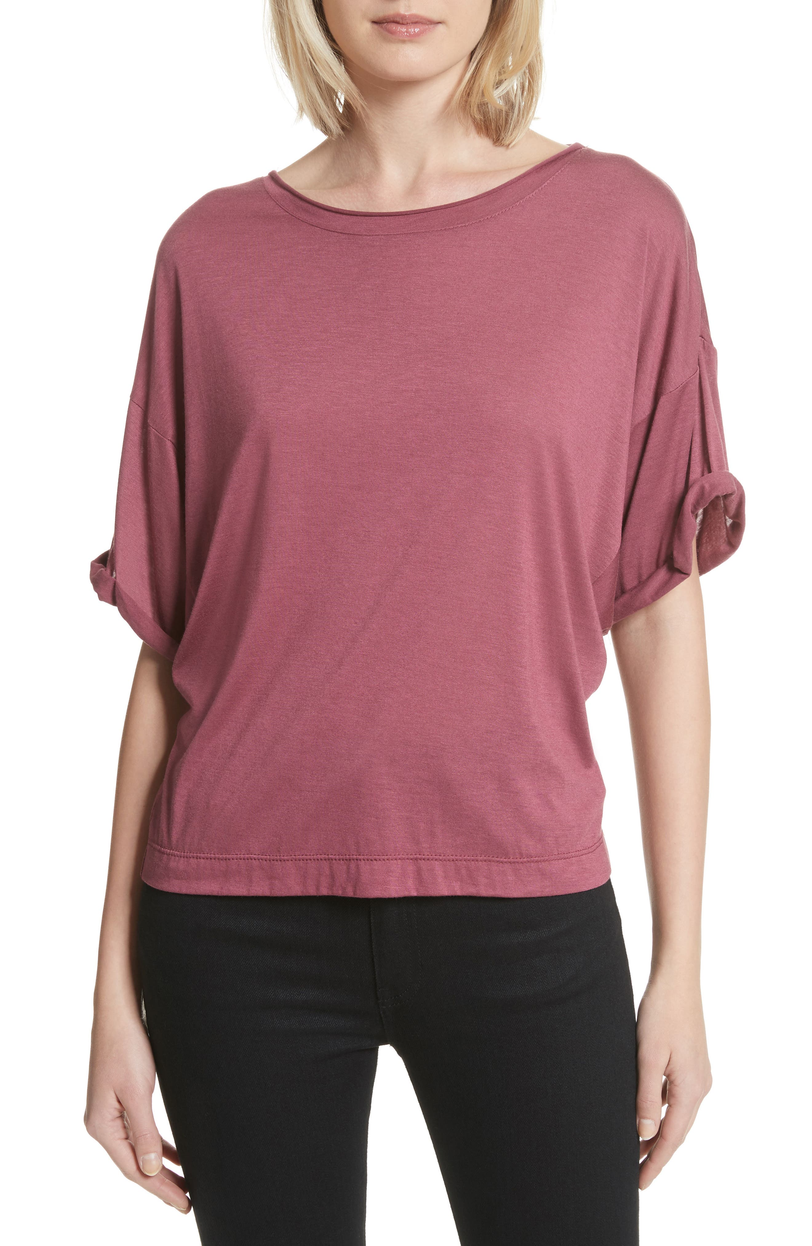 Perfect Boatneck Tee,                         Main,                         color,