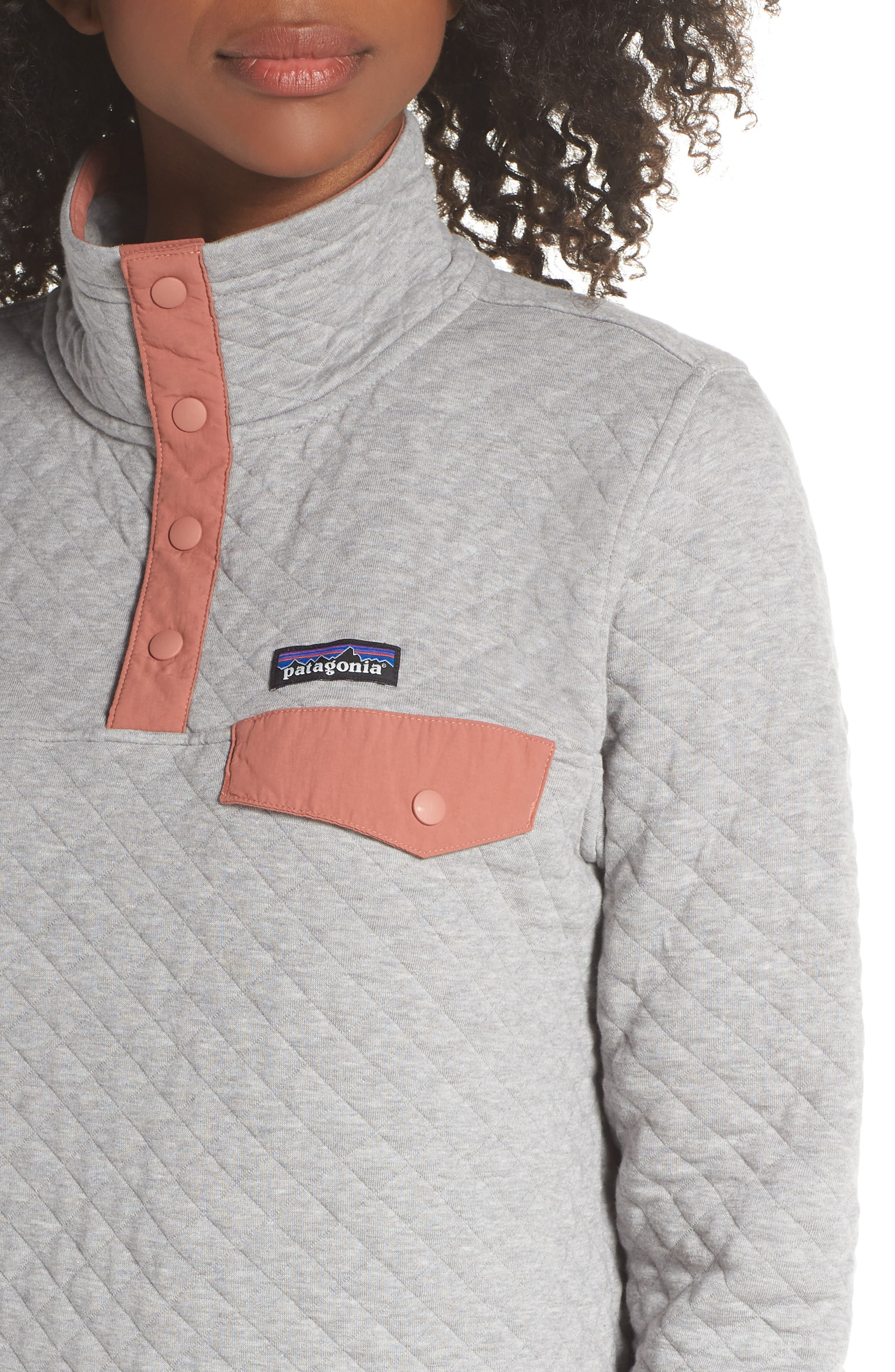 Snap-T<sup>®</sup> Quilted Pullover,                             Alternate thumbnail 4, color,                             DRIFT GREY
