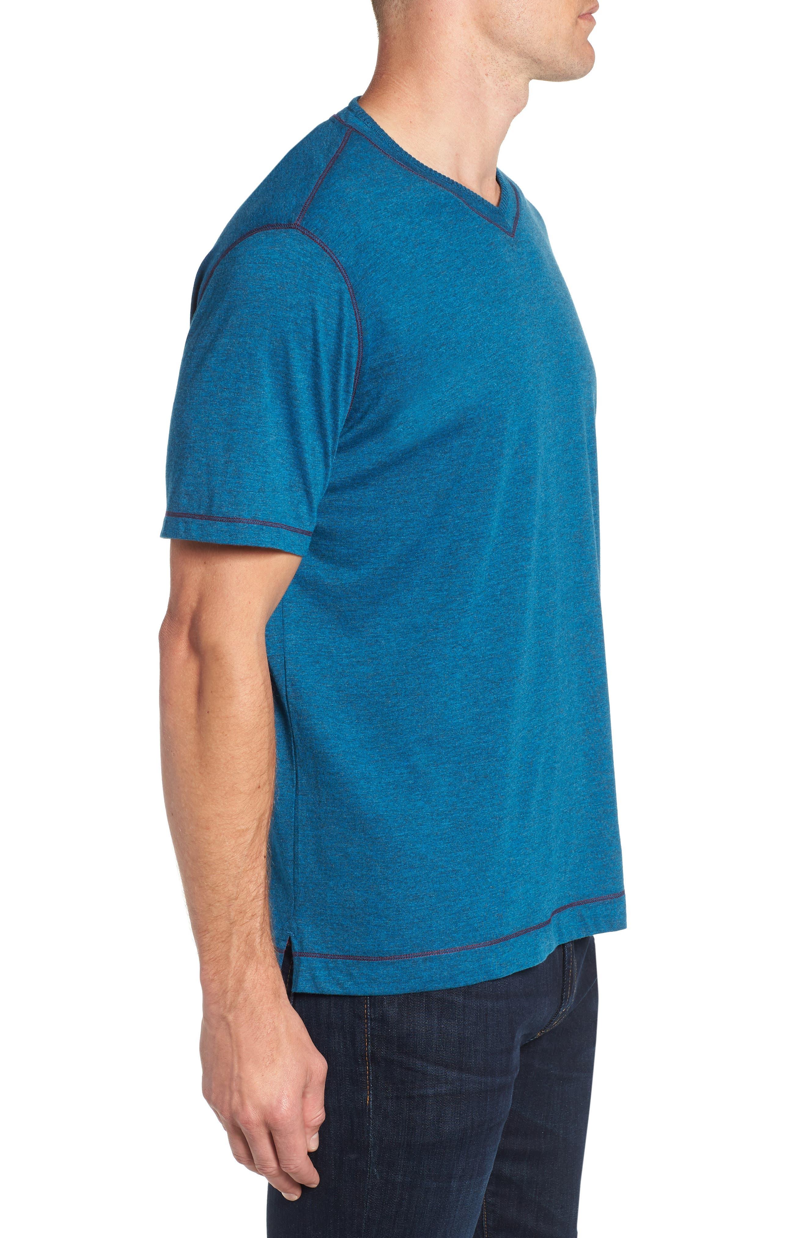 Traveler V-Neck T-Shirt,                             Alternate thumbnail 3, color,                             DARK TEAL