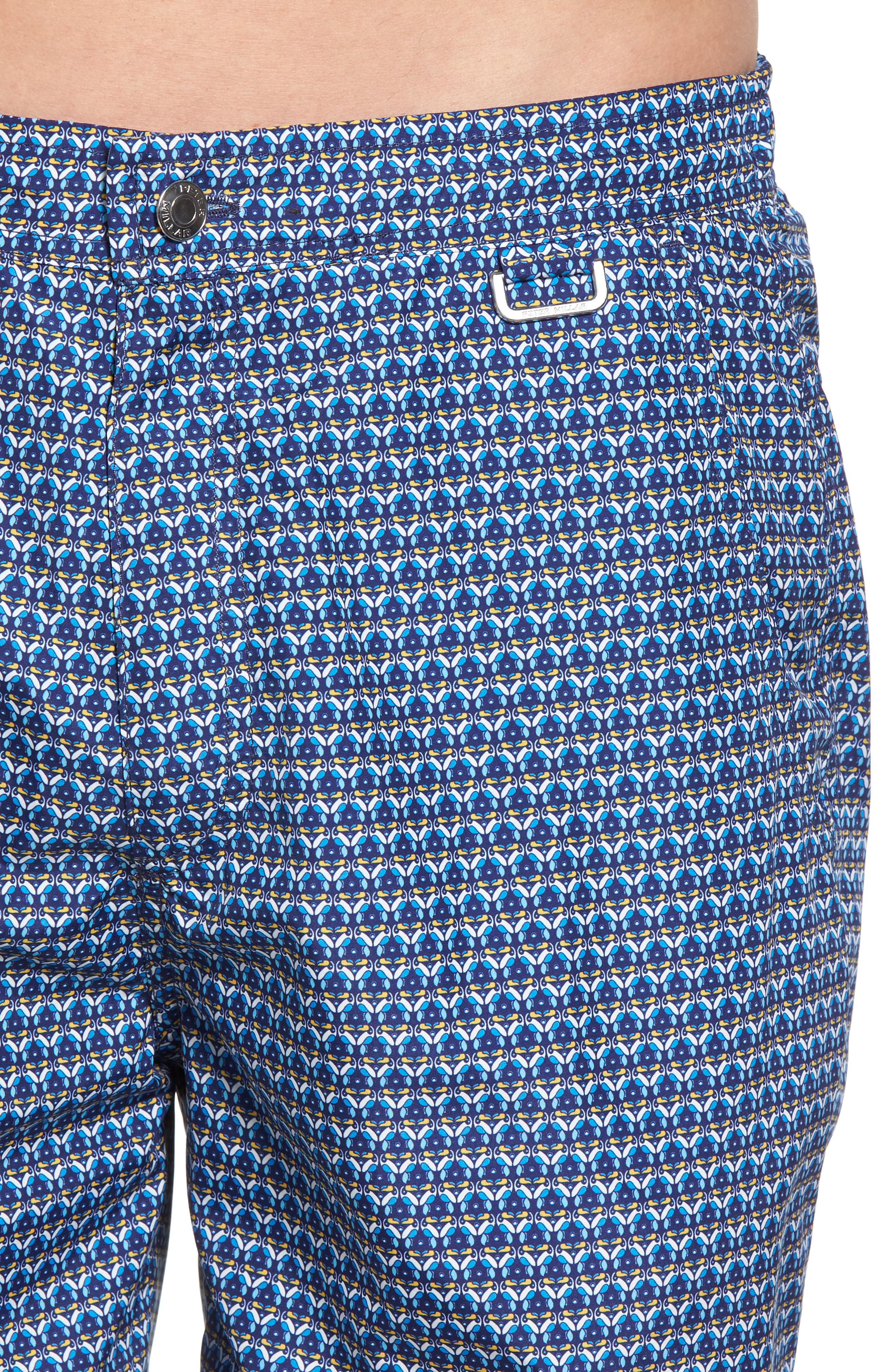 Peter Millar Two Can Too Swim Trunks,                             Alternate thumbnail 4, color,                             440