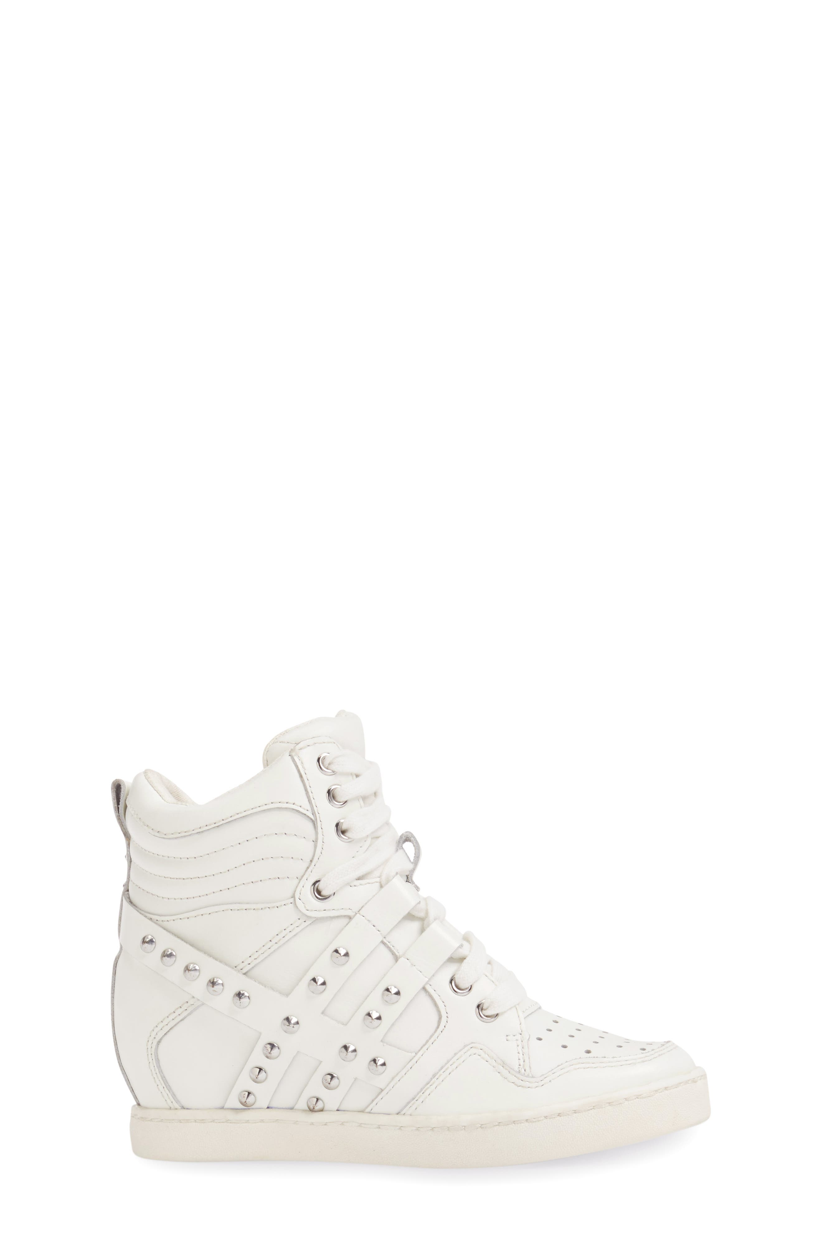Boogie Studs High Top Sneaker,                             Alternate thumbnail 3, color,                             100