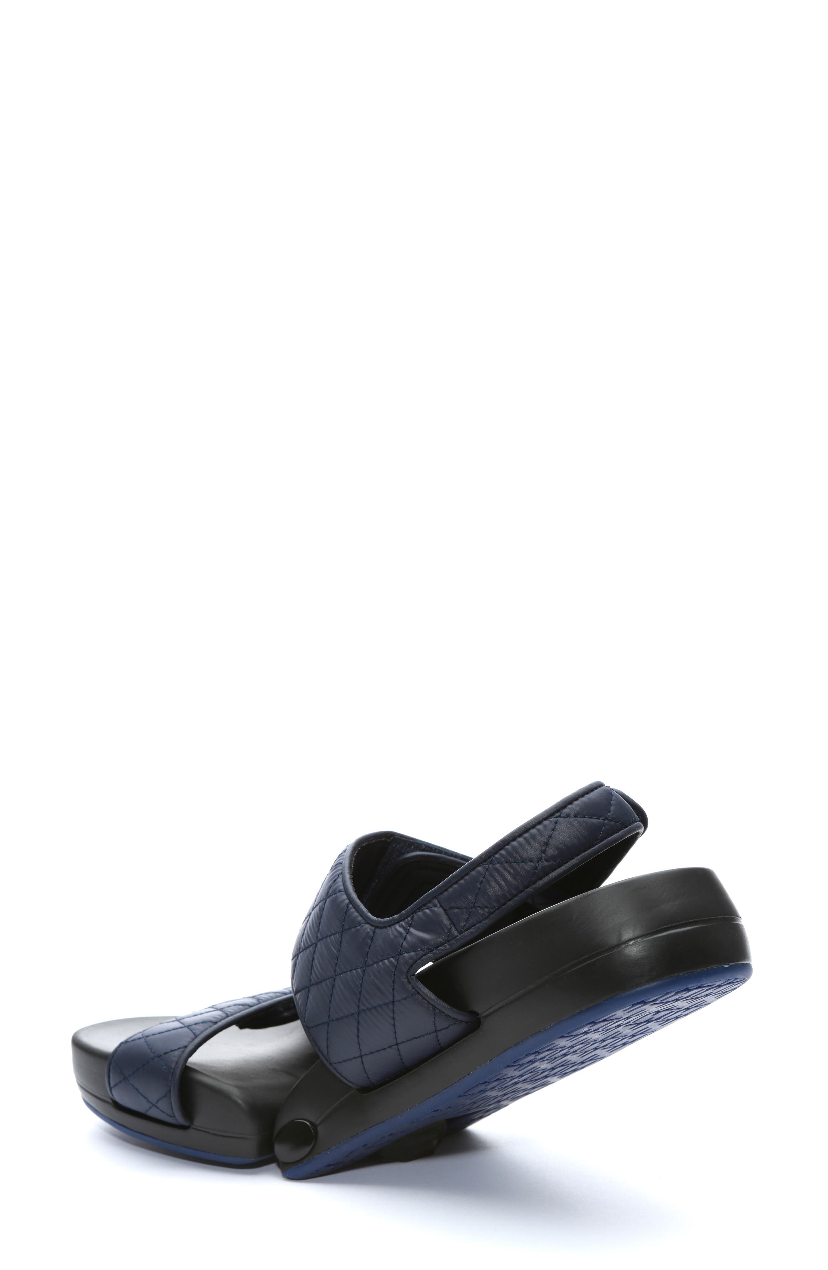 Figulous Quilted Sandal,                             Alternate thumbnail 2, color,                             NAVY FABRIC