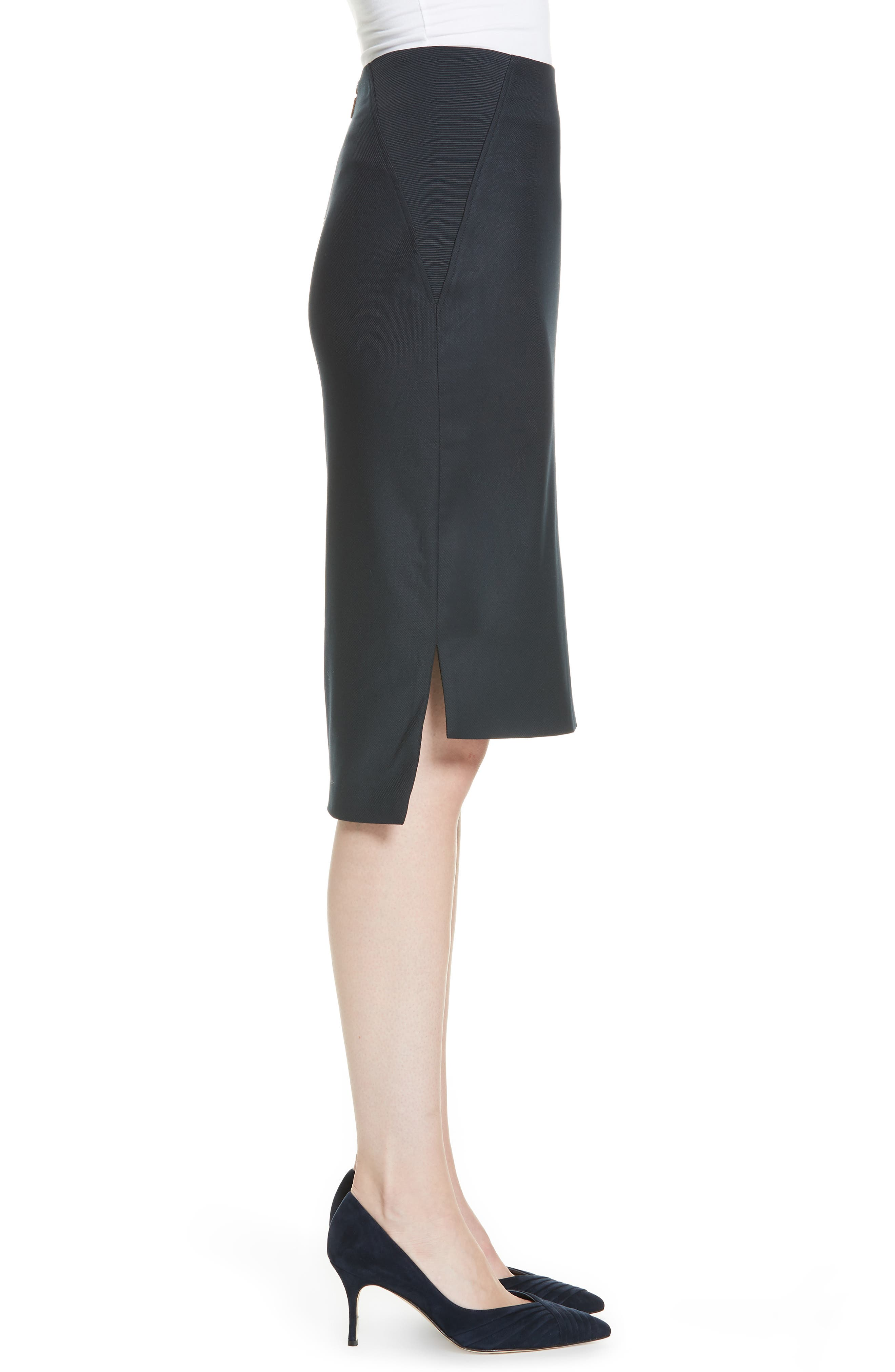 Ted Working Title Rivaas Pencil Skirt,                             Alternate thumbnail 3, color,                             DARK BLUE