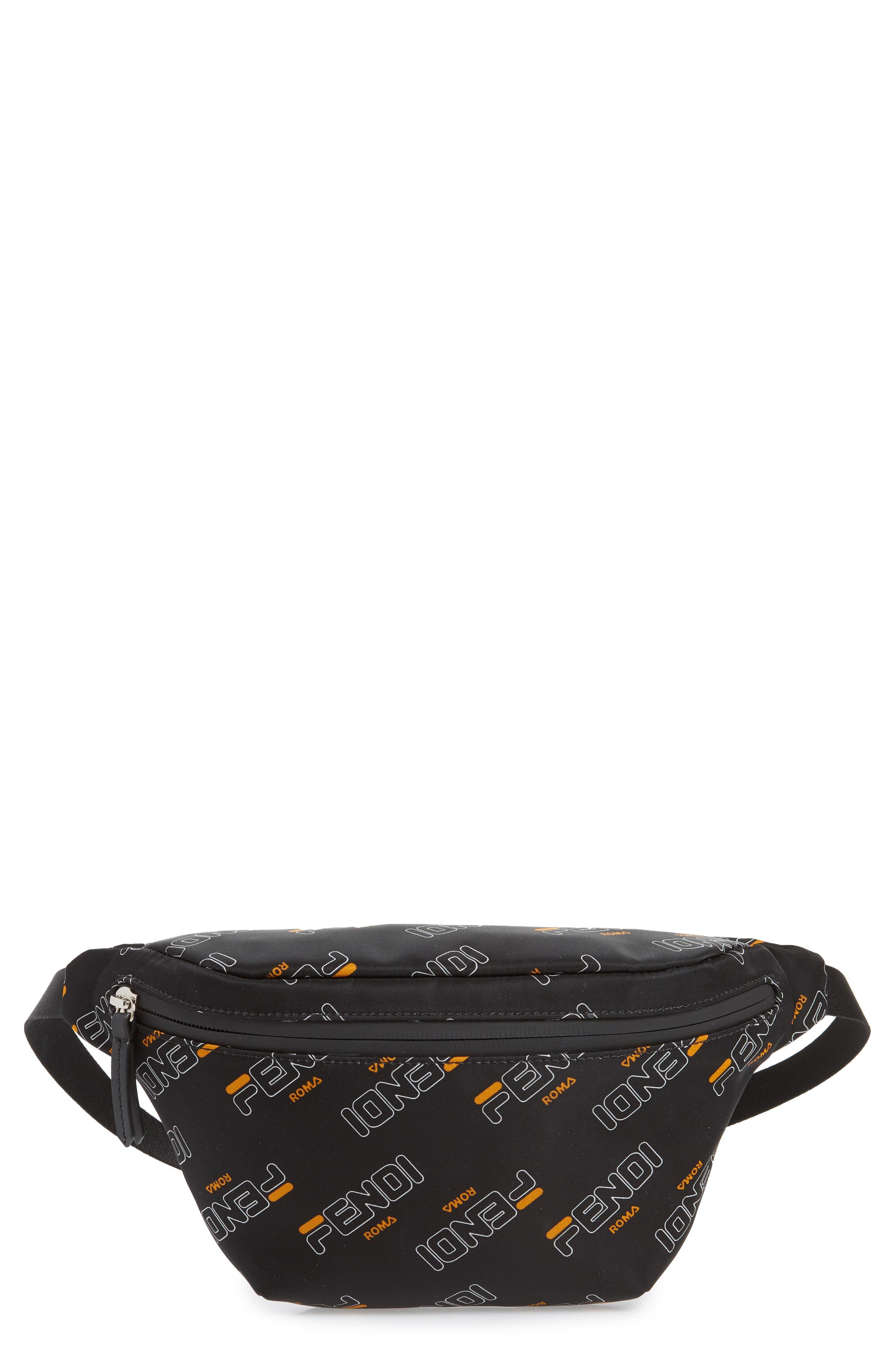 Toddler Fendi X Fila Logo Belt Bag  Black