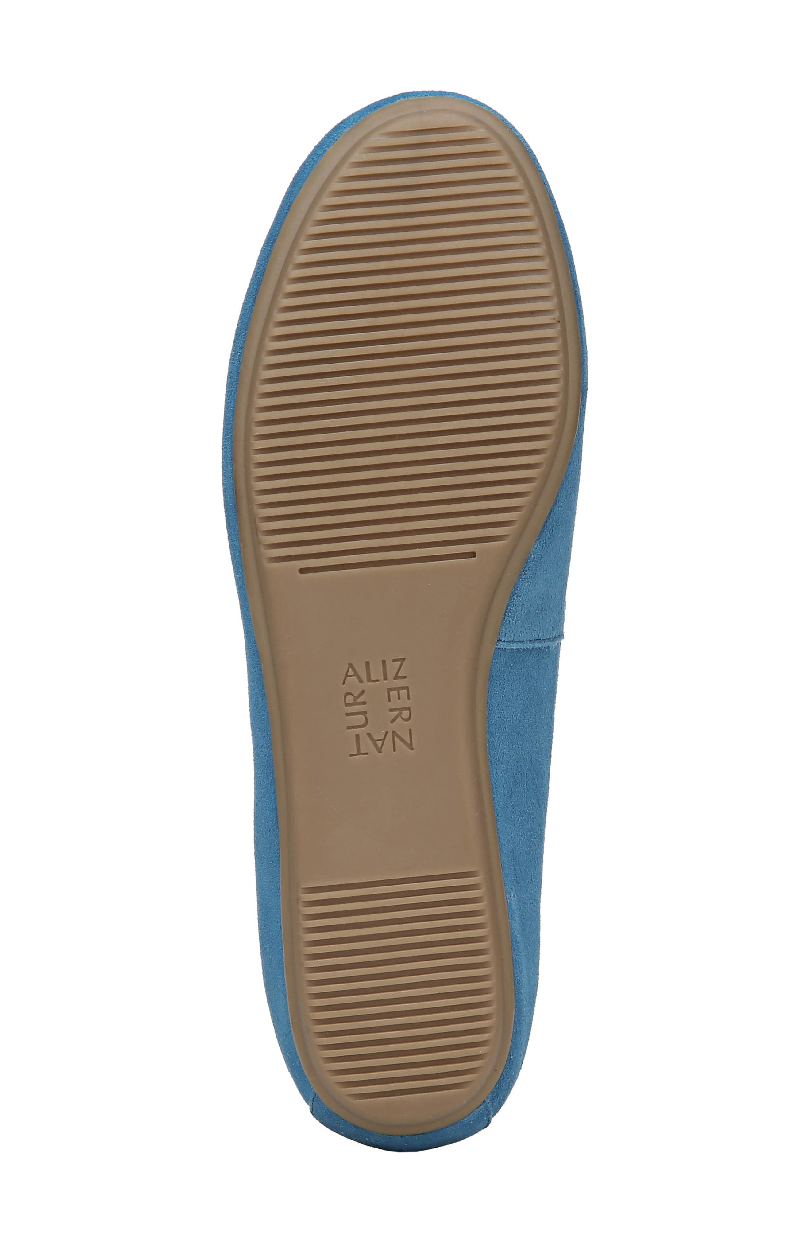 Brittany Flat,                             Alternate thumbnail 6, color,                             ADMIRAL BLUE LEATHER
