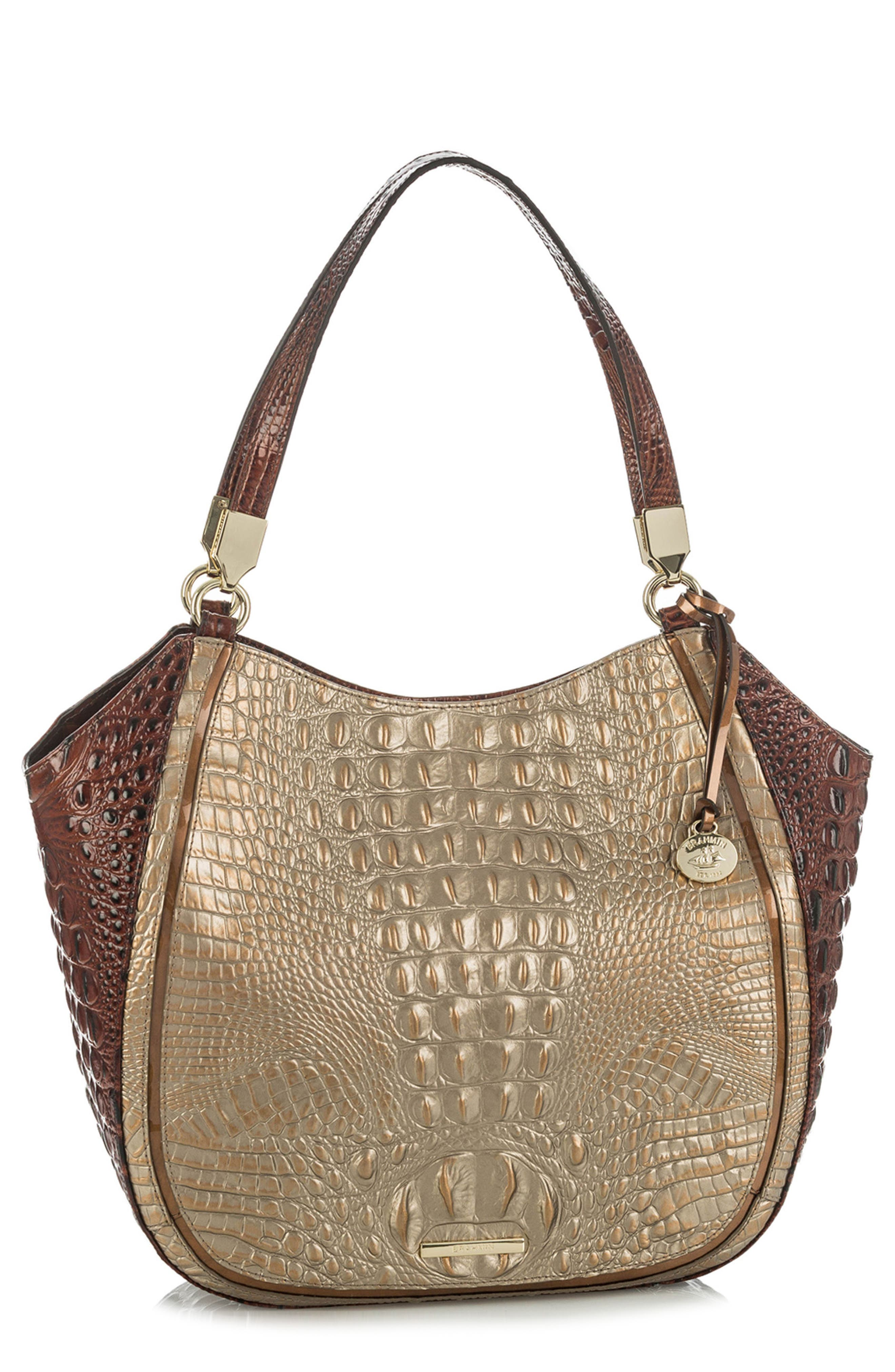 Marianna Croc Embossed Leather Tote,                         Main,                         color, 715