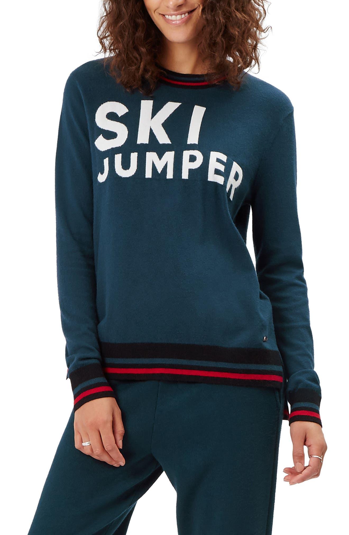 Ski Jumper Sweater,                         Main,                         color, BEETLE BLUE