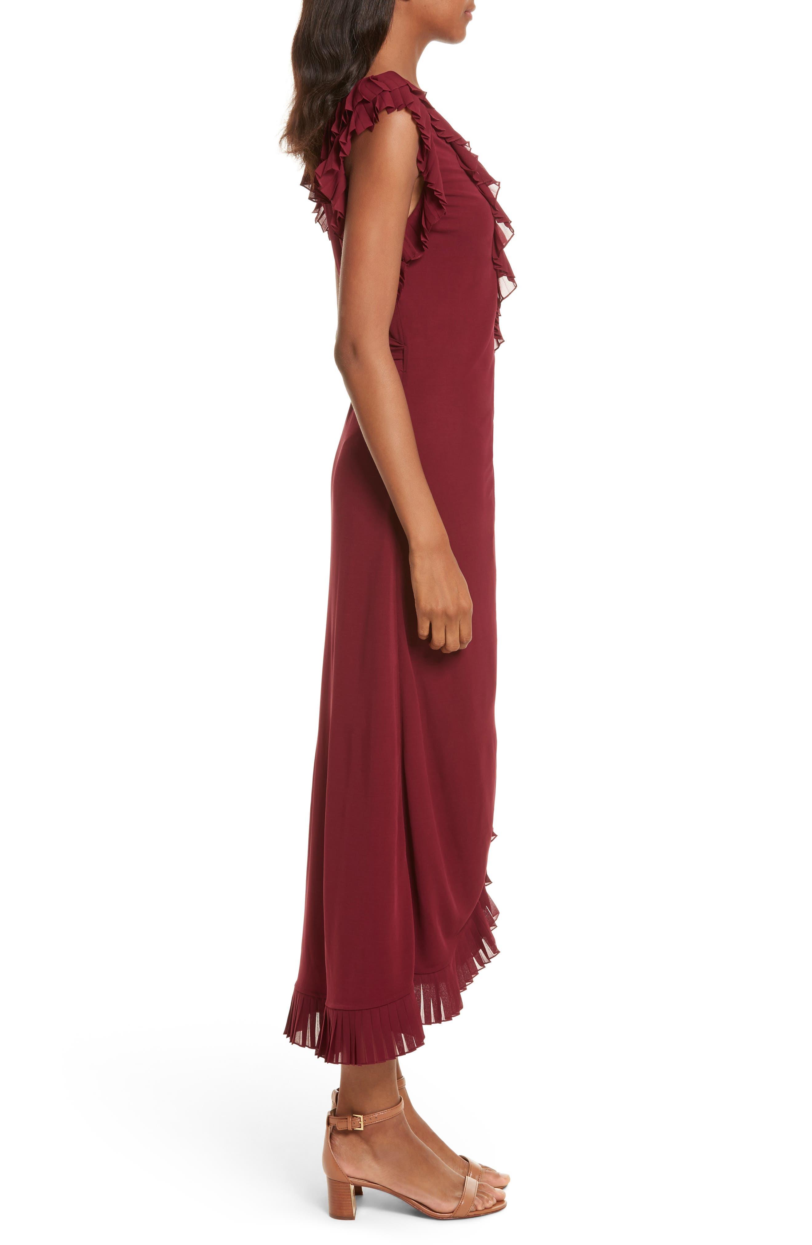 Whitney Wrap Midi Dress,                             Alternate thumbnail 3, color,
