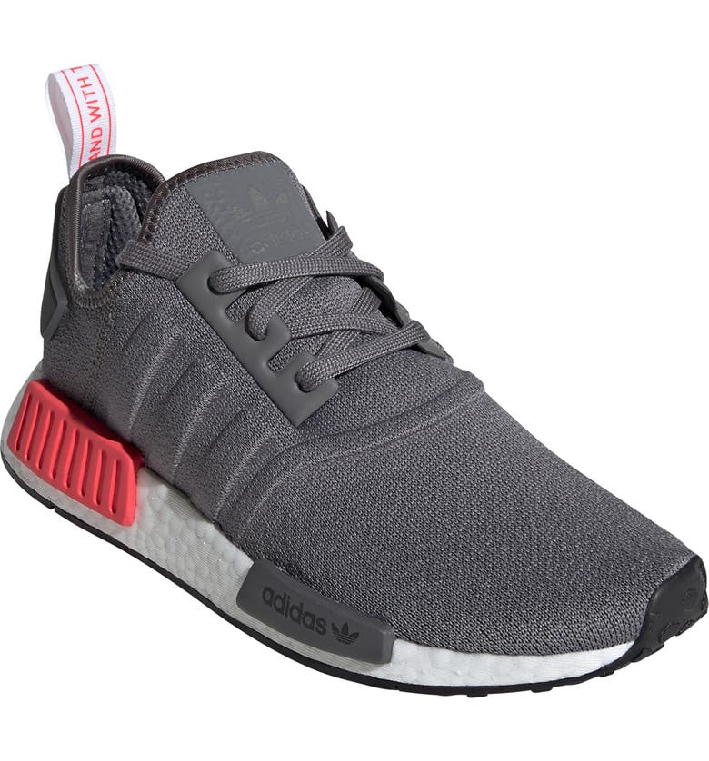 new style 74cdf 0ab25 ADIDAS NMDR1 Sneaker, Main, color, GREY SHOCK RED