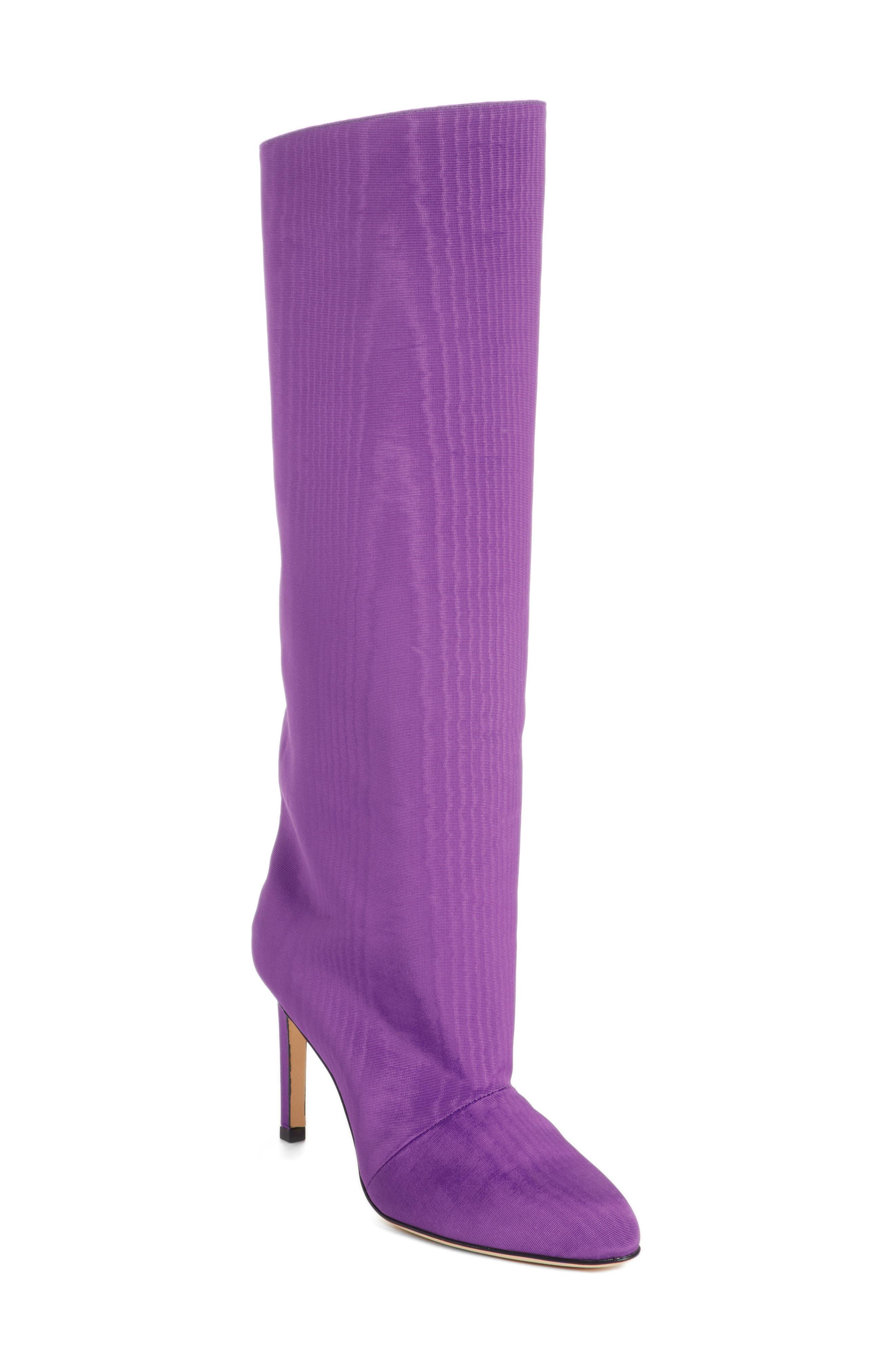 Knee High Moiré Boot,                         Main,                         color, PURPLE