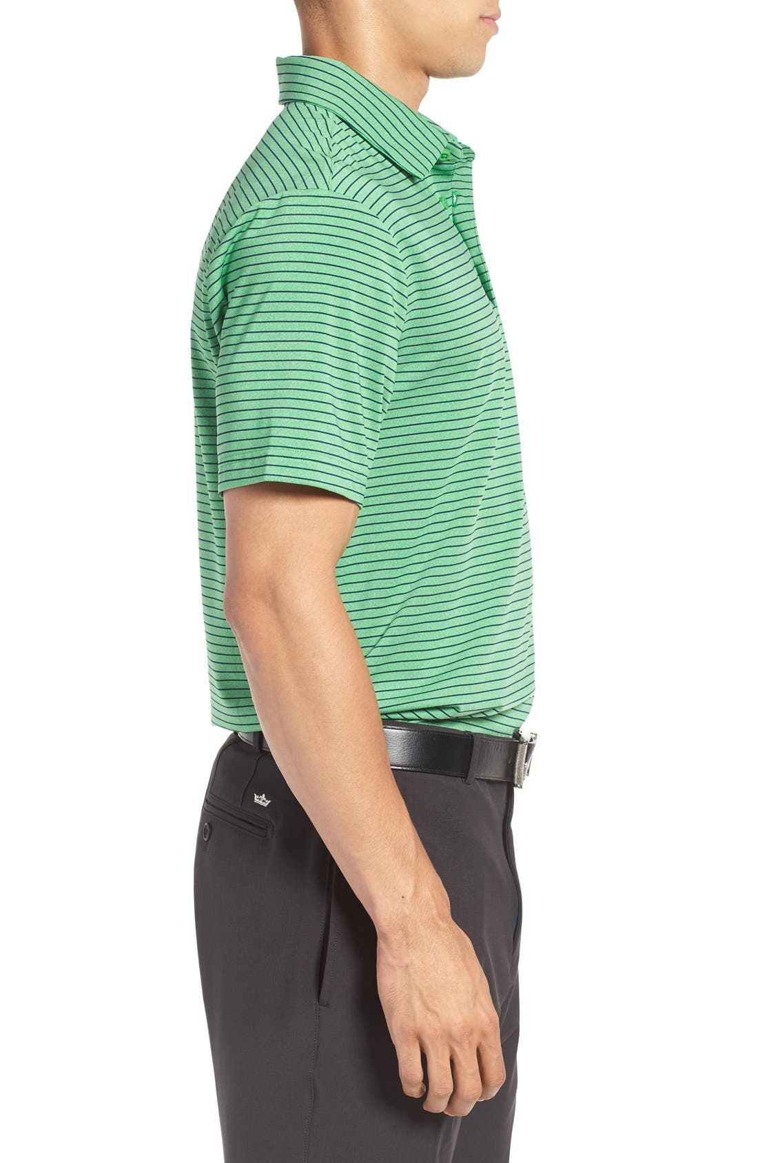 'Playoff' Loose Fit Short Sleeve Polo,                             Alternate thumbnail 110, color,