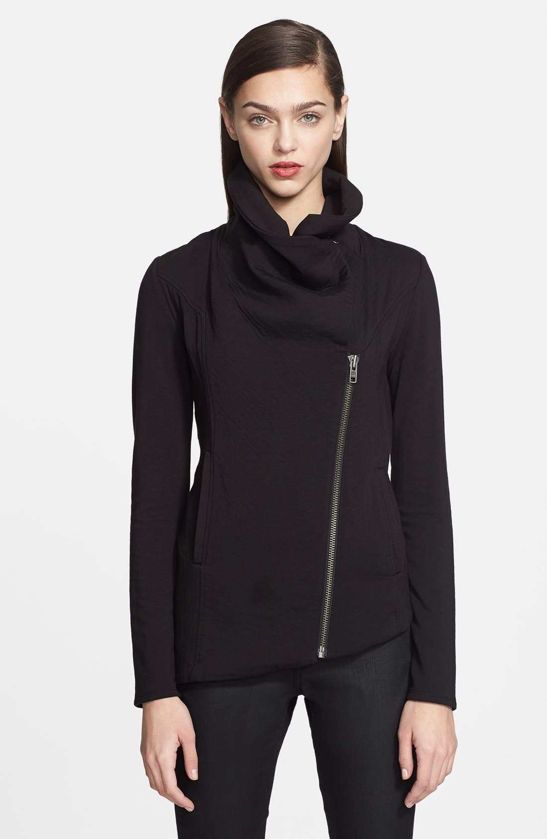 'Villous' Zip Front Sweatshirt, Main, color, 001