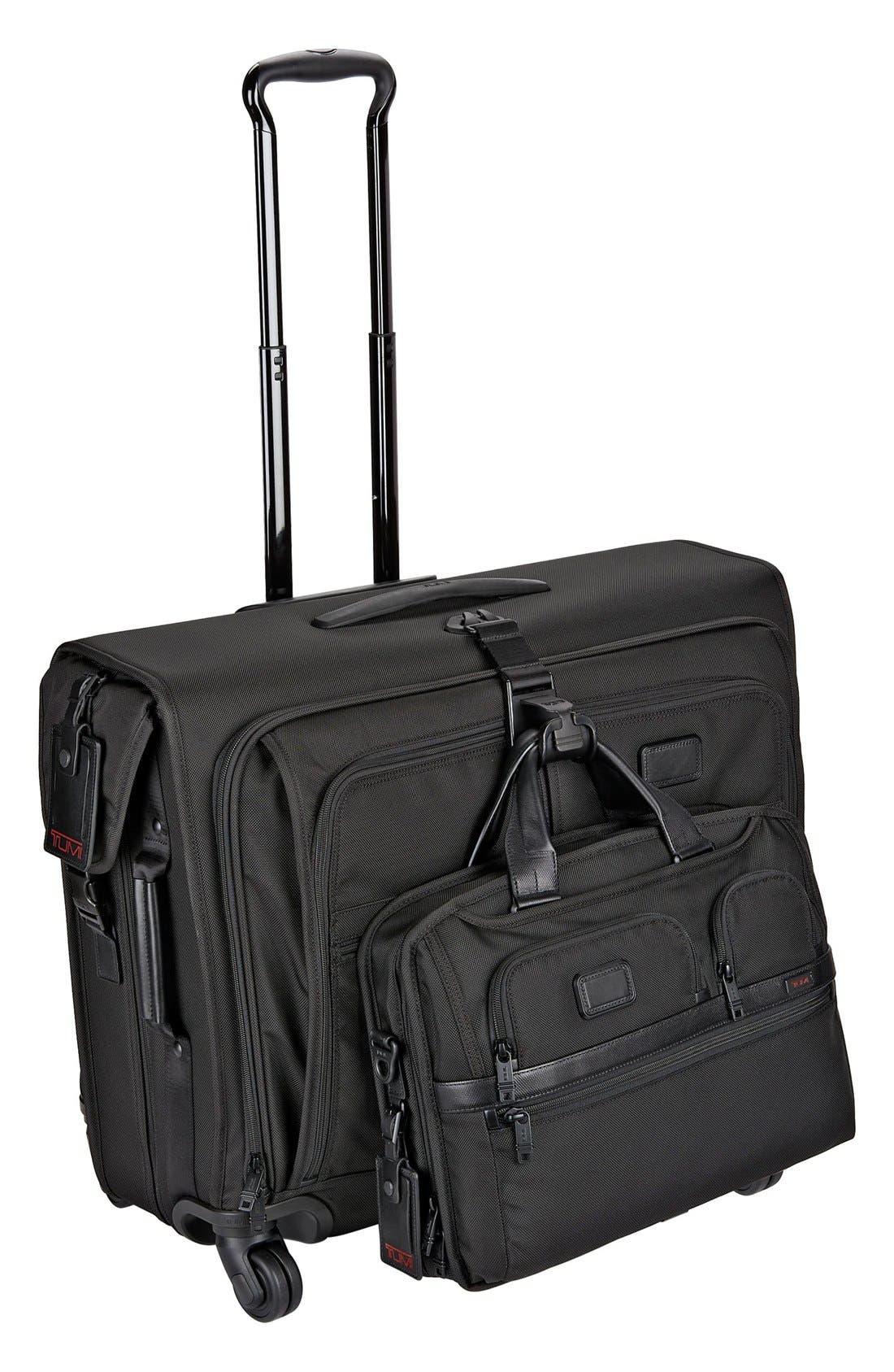 Alpha 2 Medium Trip Wheeled Garment Bag,                             Alternate thumbnail 2, color,                             BLACK