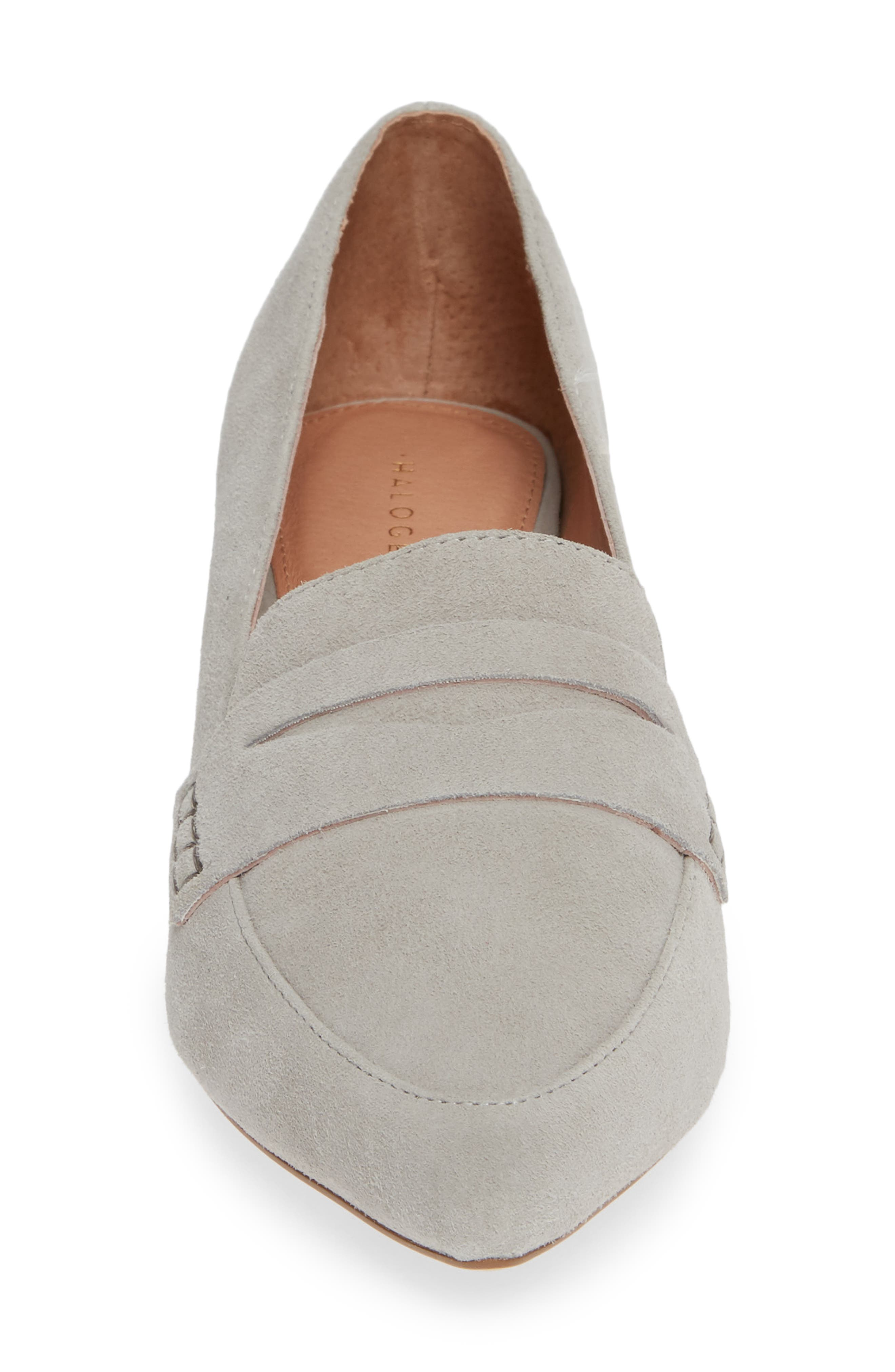 HALOGEN<SUP>®</SUP>,                             Isabelle Pointy Toe Pump,                             Alternate thumbnail 4, color,                             LIGHT GREY SUEDE