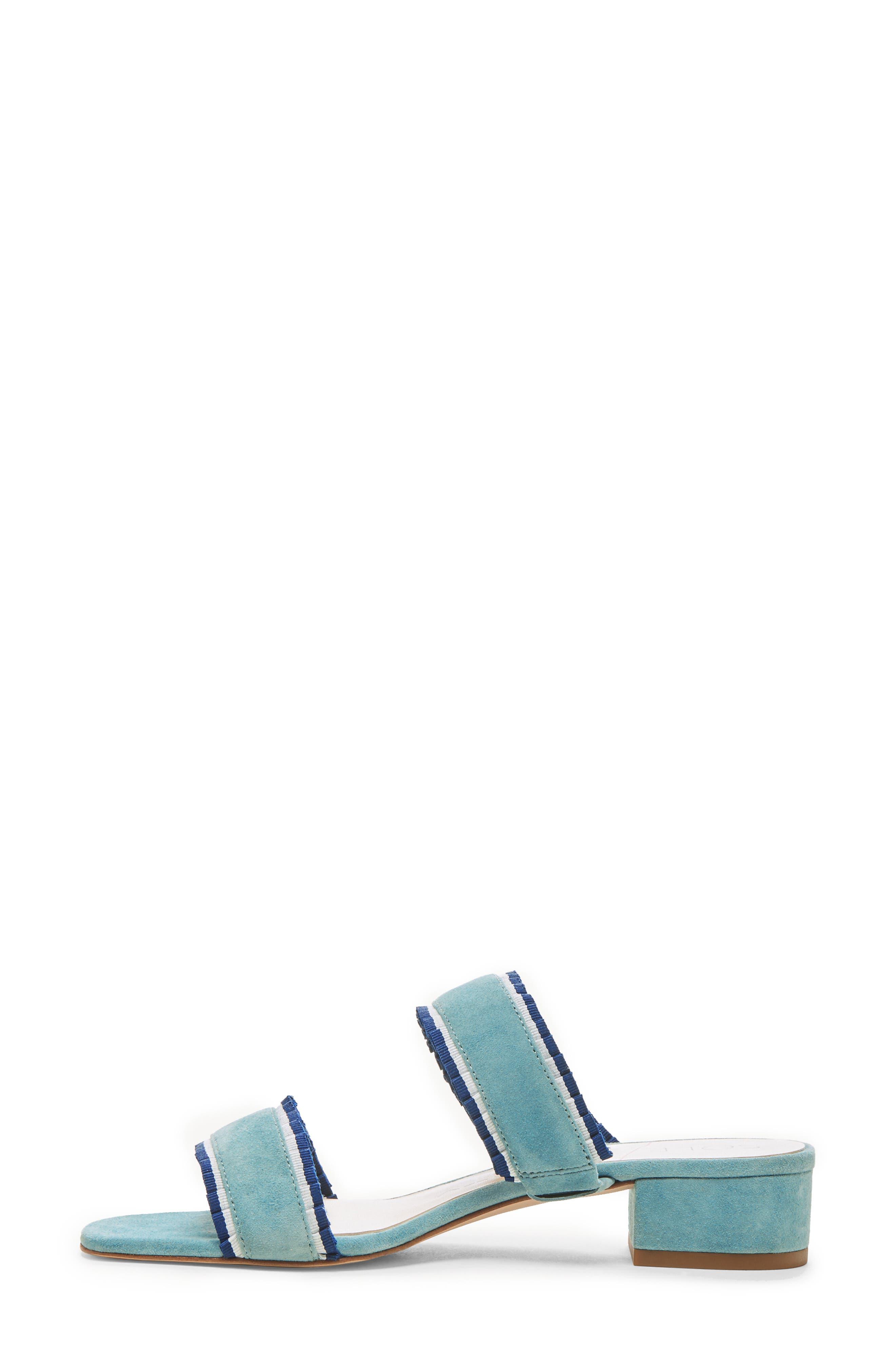 SOLE SOCIETY,                             Elura Slide Sandal,                             Alternate thumbnail 9, color,                             LIGHT SEA GREEN SUEDE