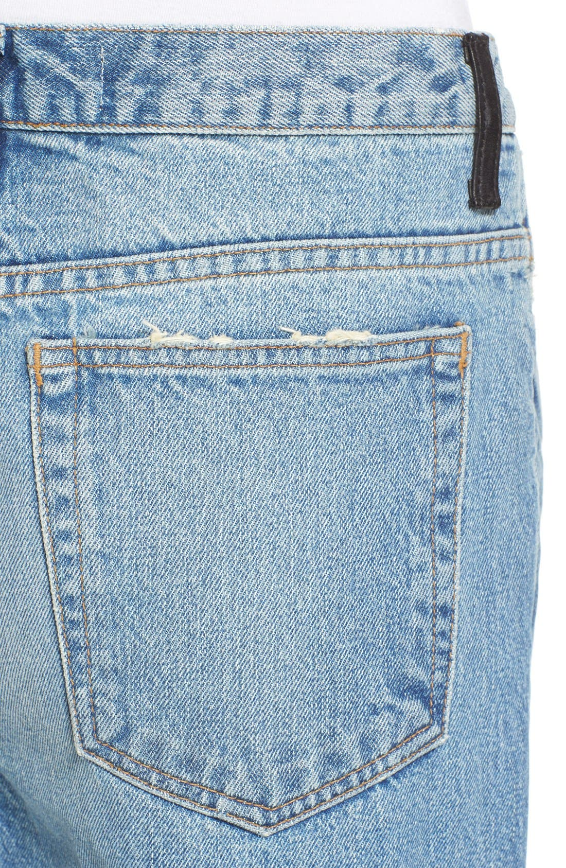 Denim x Alexander Wang Rave Wide Leg Jeans,                             Alternate thumbnail 2, color,                             453