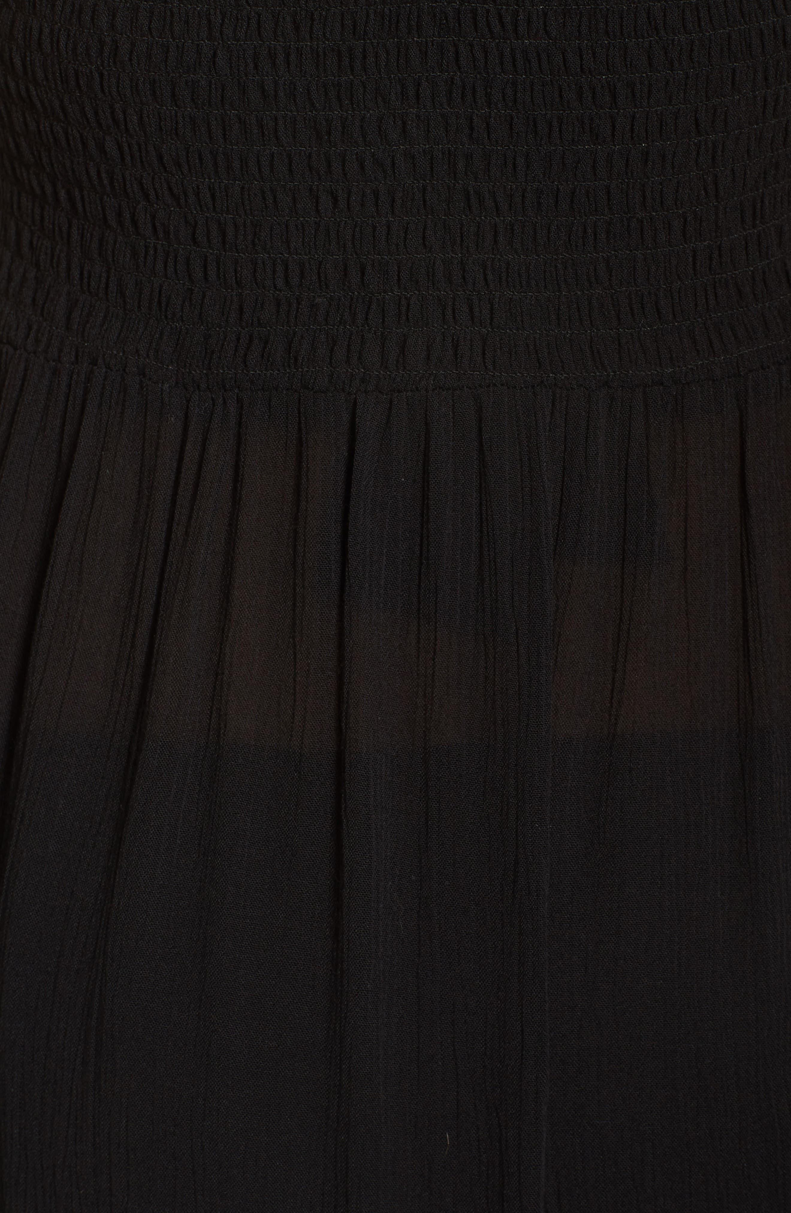 Midi Tie Back Cover-Up Dress,                             Alternate thumbnail 5, color,                             001