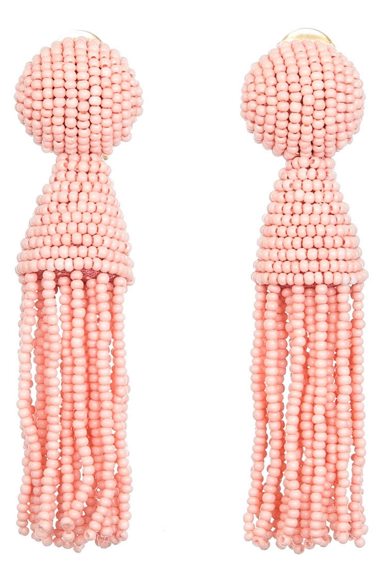 'Classic Short' Tassel Drop Clip Earrings,                             Main thumbnail 6, color,