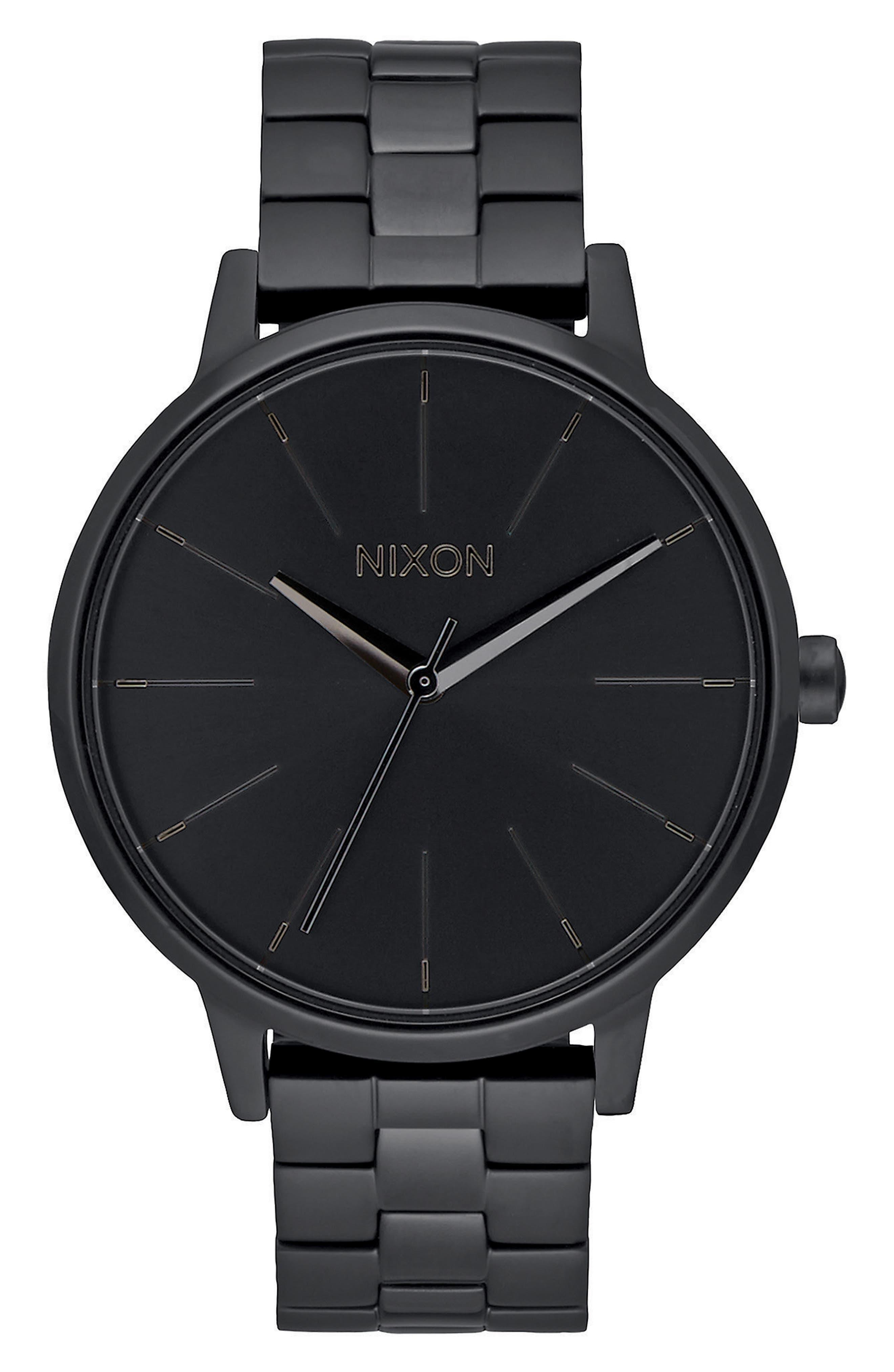 'The Kensington' Bracelet Watch, 37mm,                         Main,                         color, BLACK