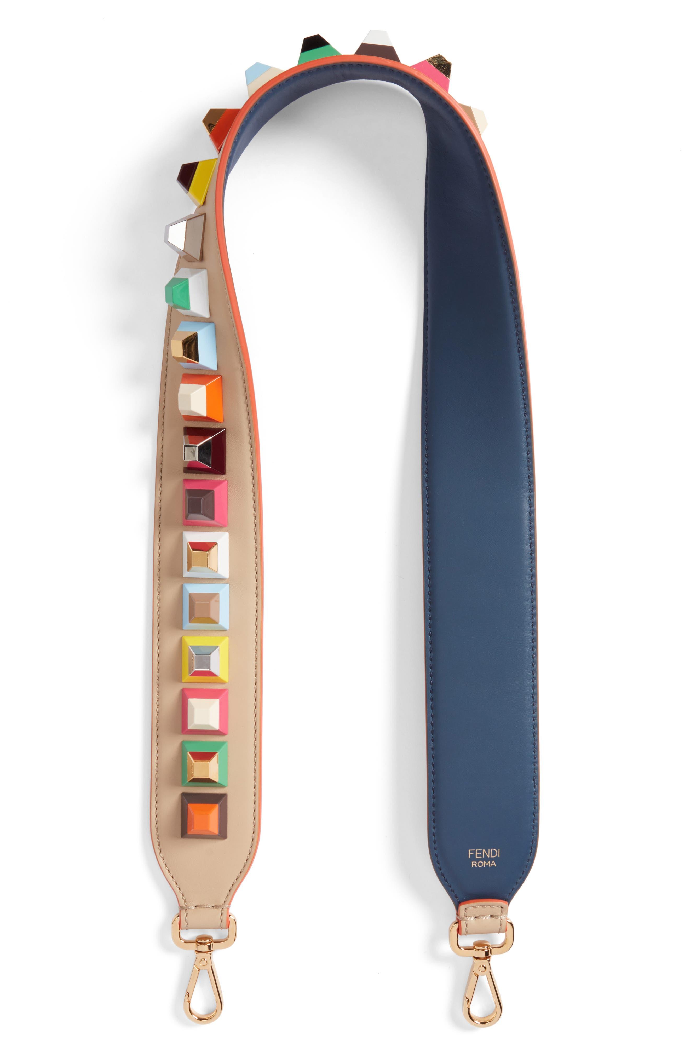 Fendi studded leather guitar style bag strap nordstrom jpg 1660x1783 Guitar  strap fendi d014377495